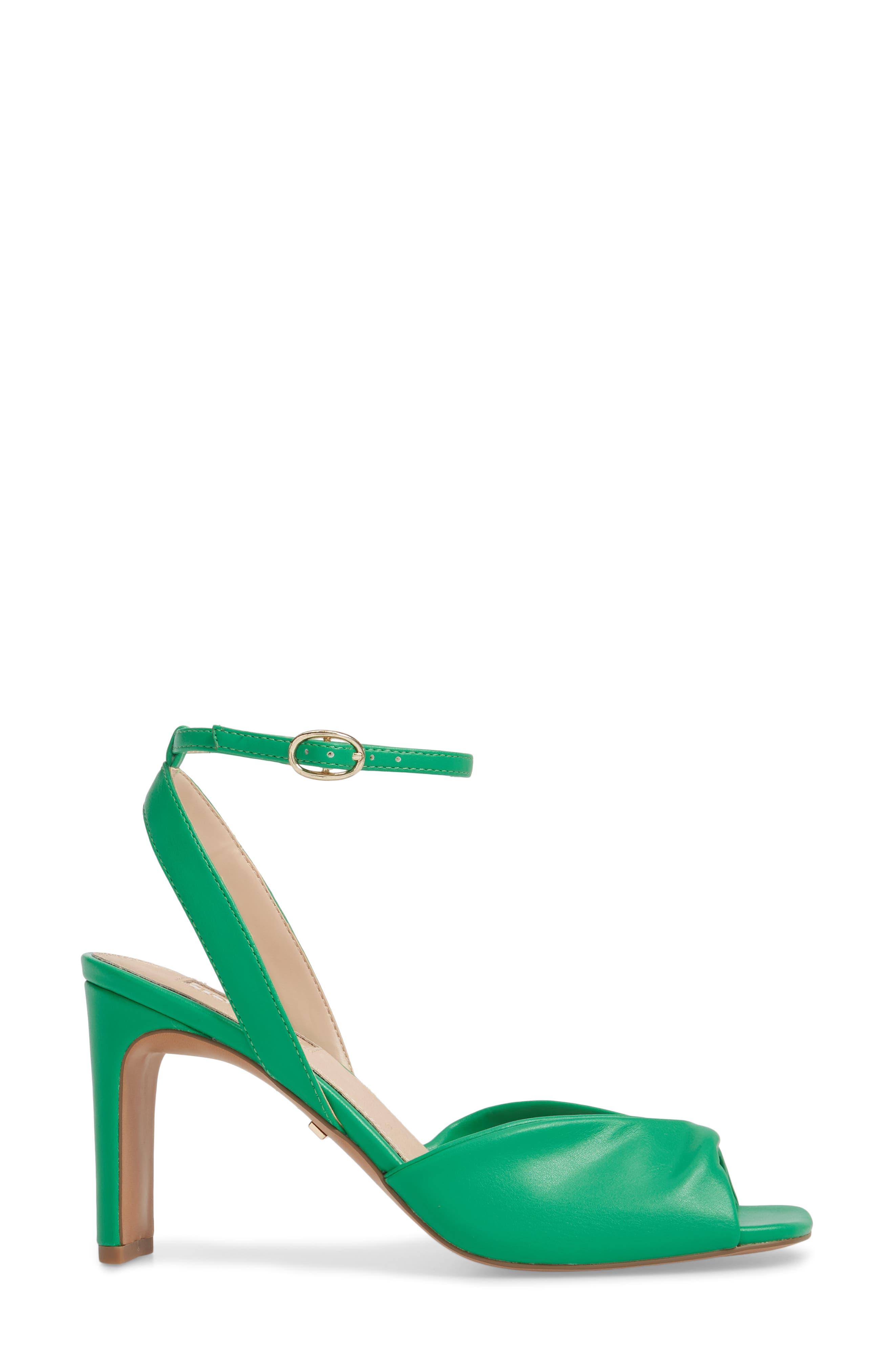 Raven Skinny Heel Sandal,                             Alternate thumbnail 3, color,                             Green