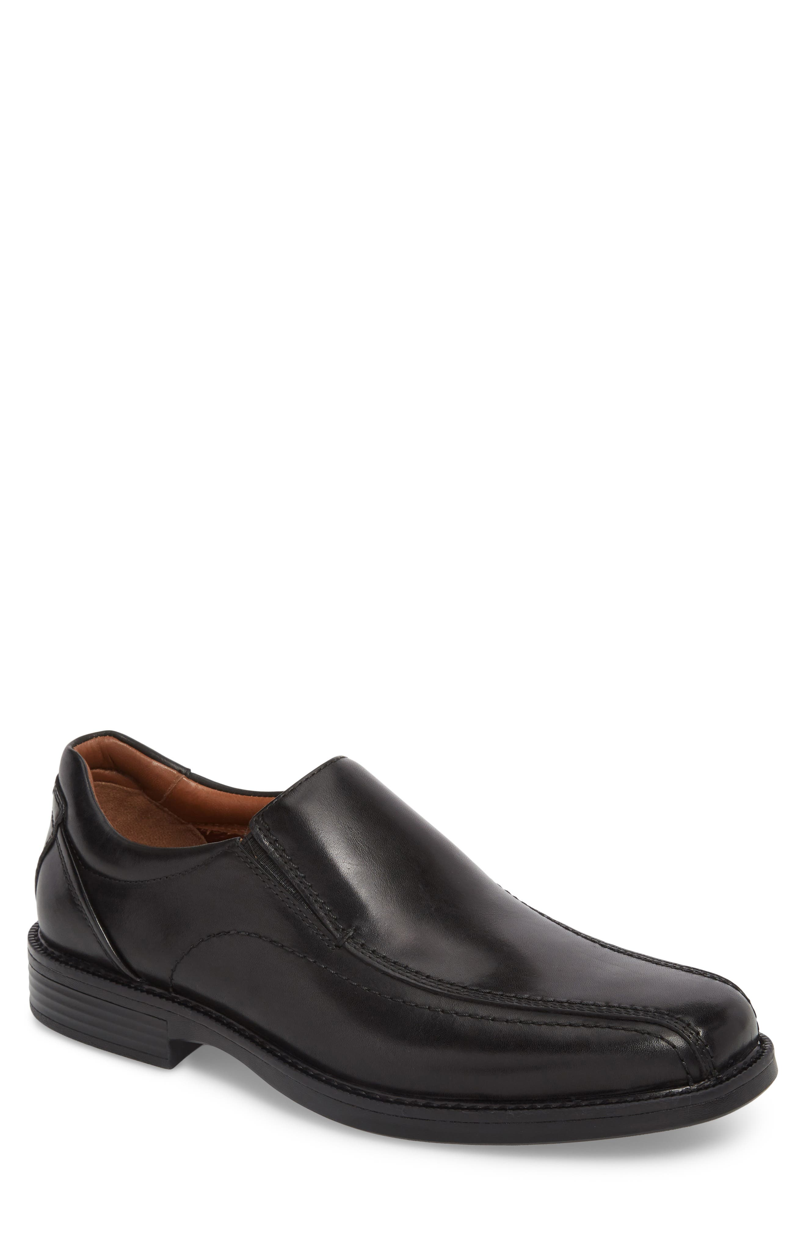 Stanton Runoff XC4<sup>®</sup> Bike Toe Slip-On,                         Main,                         color, Black Leather