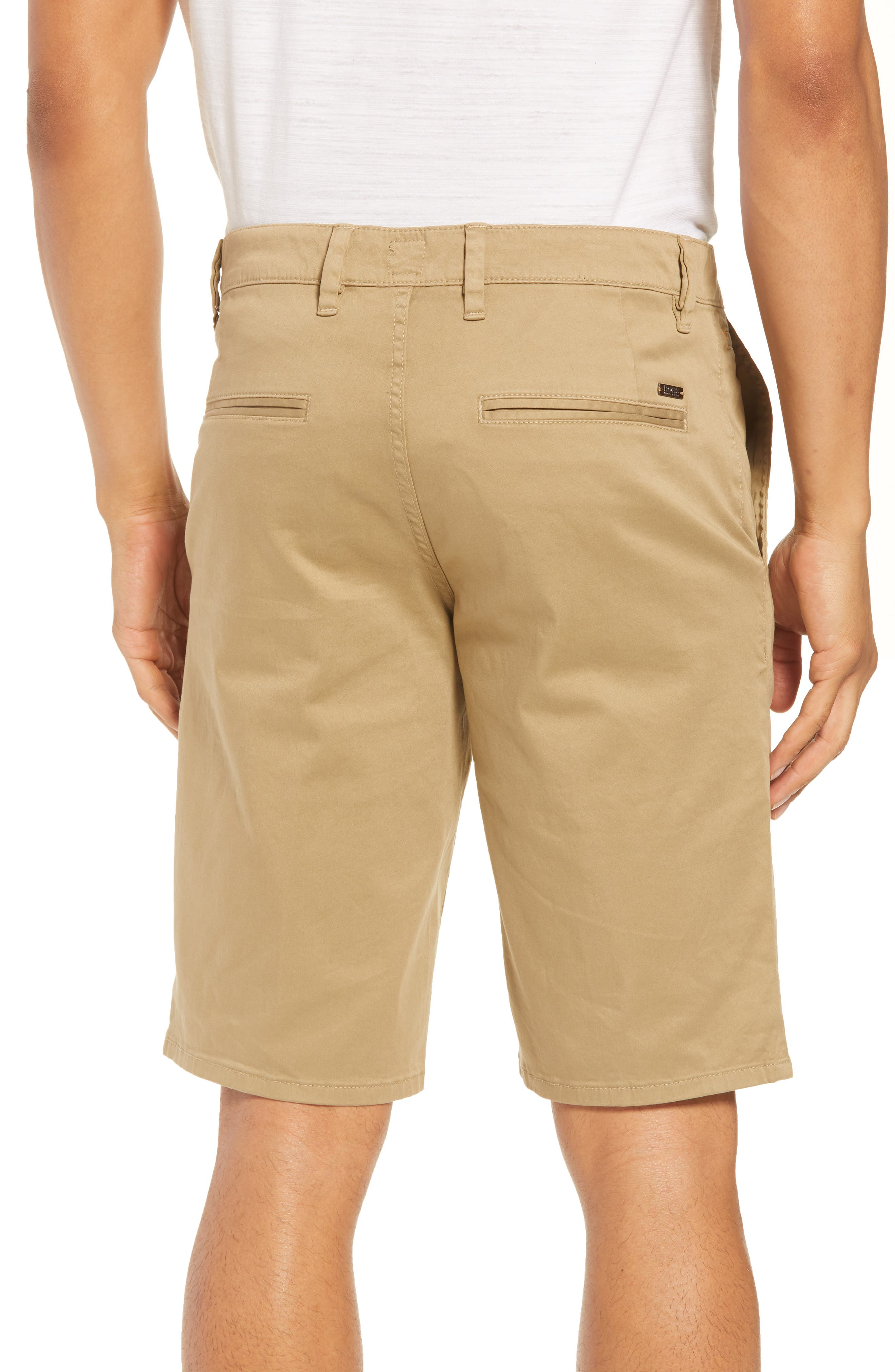 Slim Fit Shorts,                             Alternate thumbnail 2, color,                             Brown