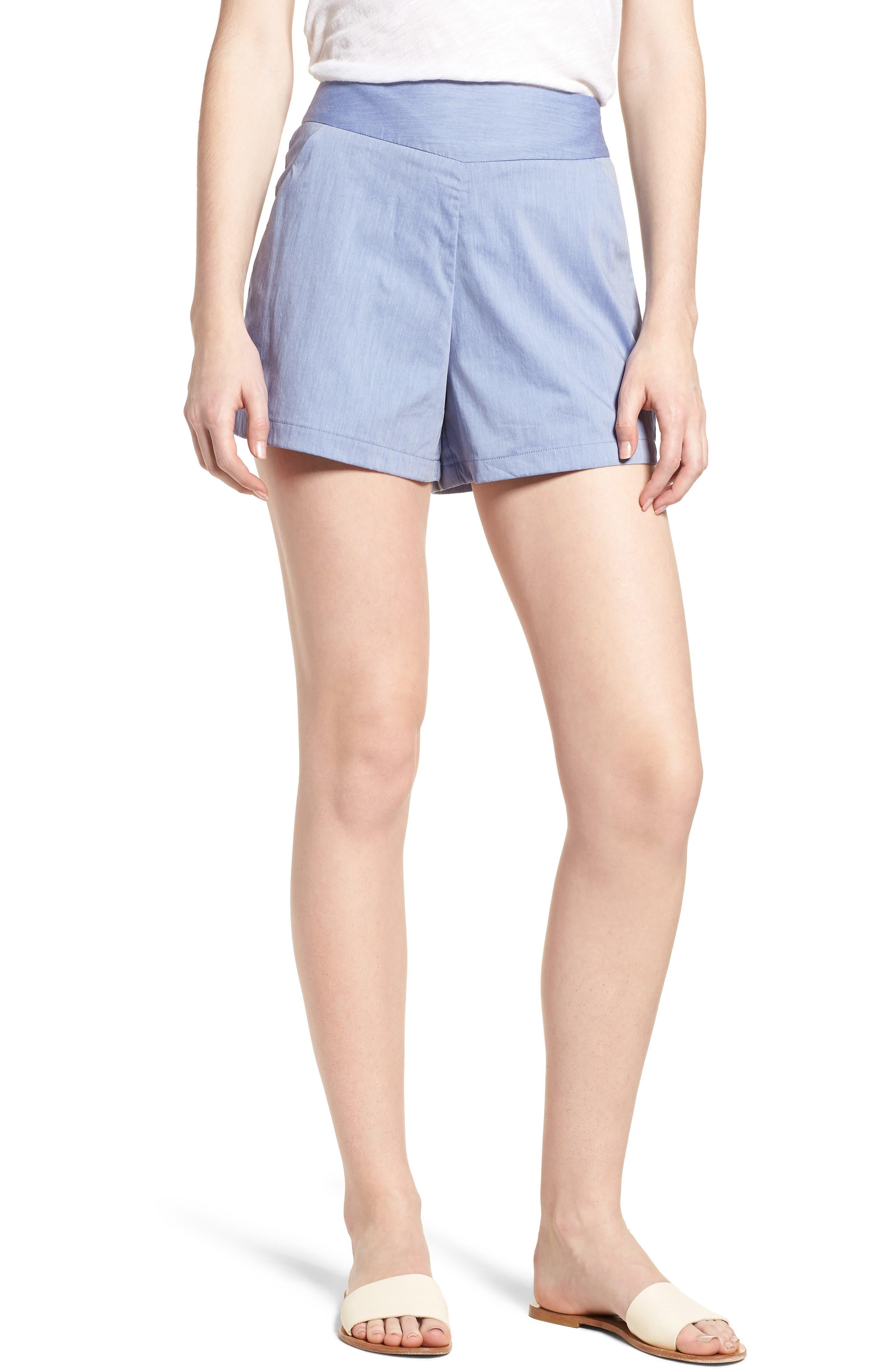 Bishop + Young Ana Pocket Shorts,                             Main thumbnail 1, color,                             Blue