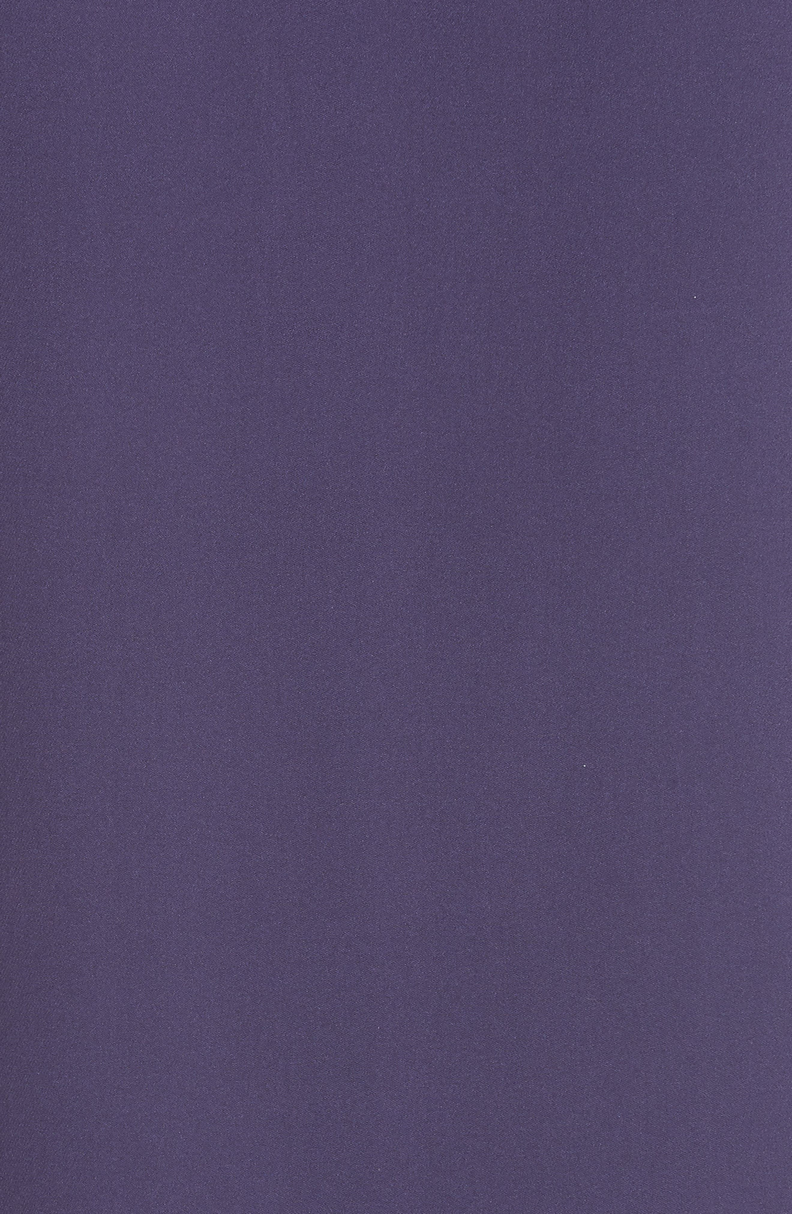 Modern Silk T-Shirt Dress,                             Alternate thumbnail 3, color,                             Plum Purple