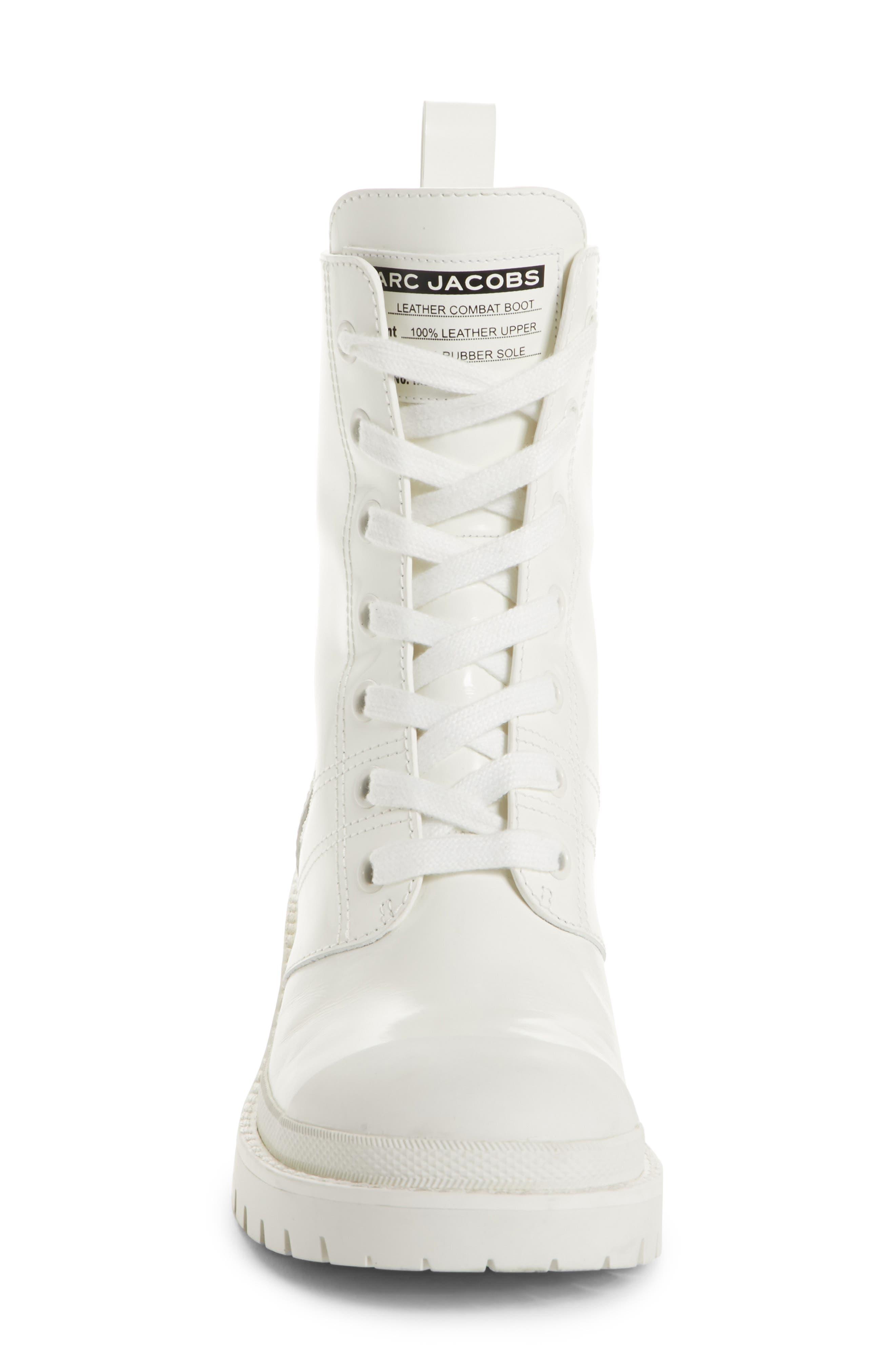 Bristol Lace-Up Boot,                             Alternate thumbnail 5, color,                             White