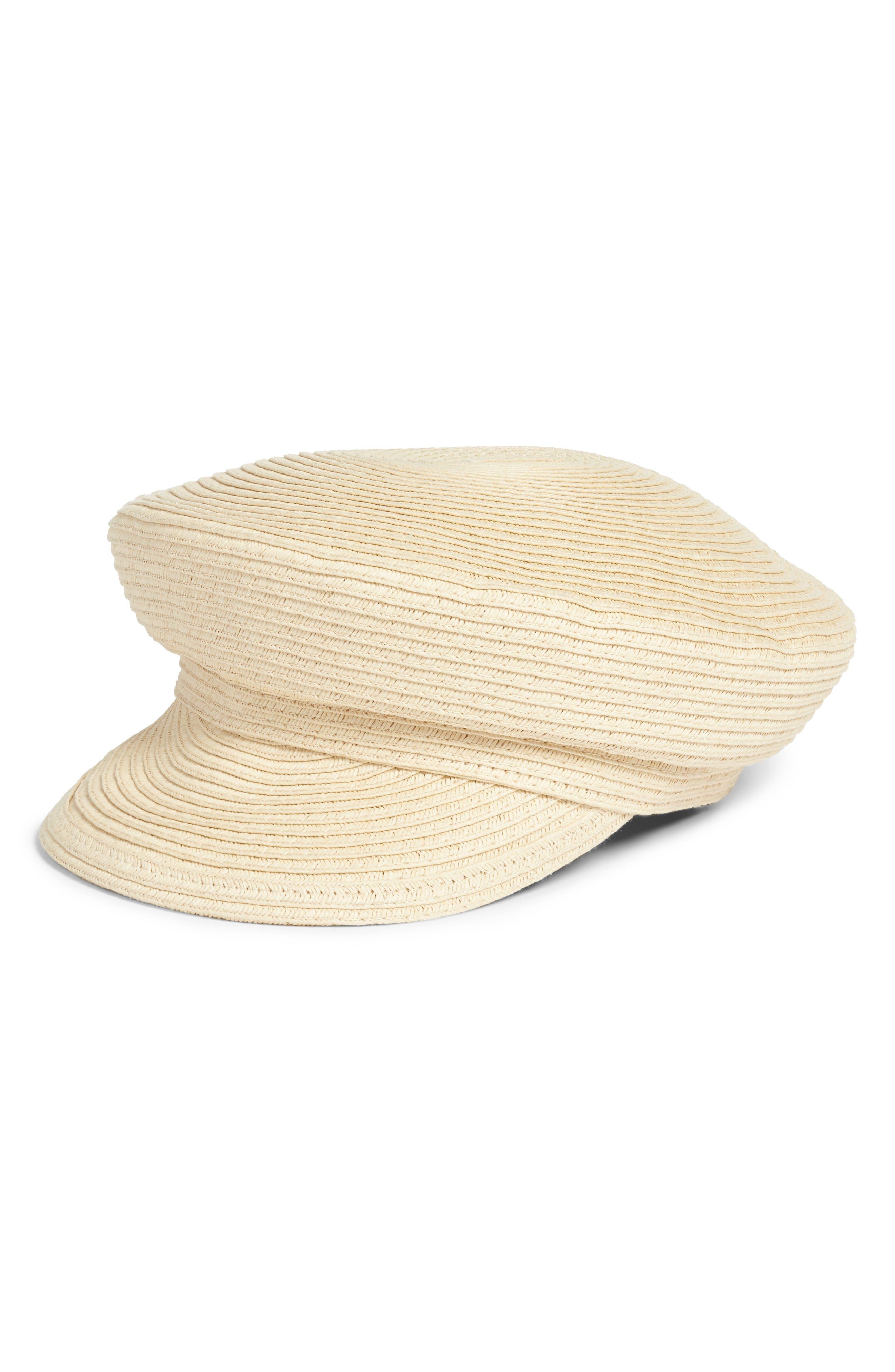 Leith Straw Baker Boy Hat