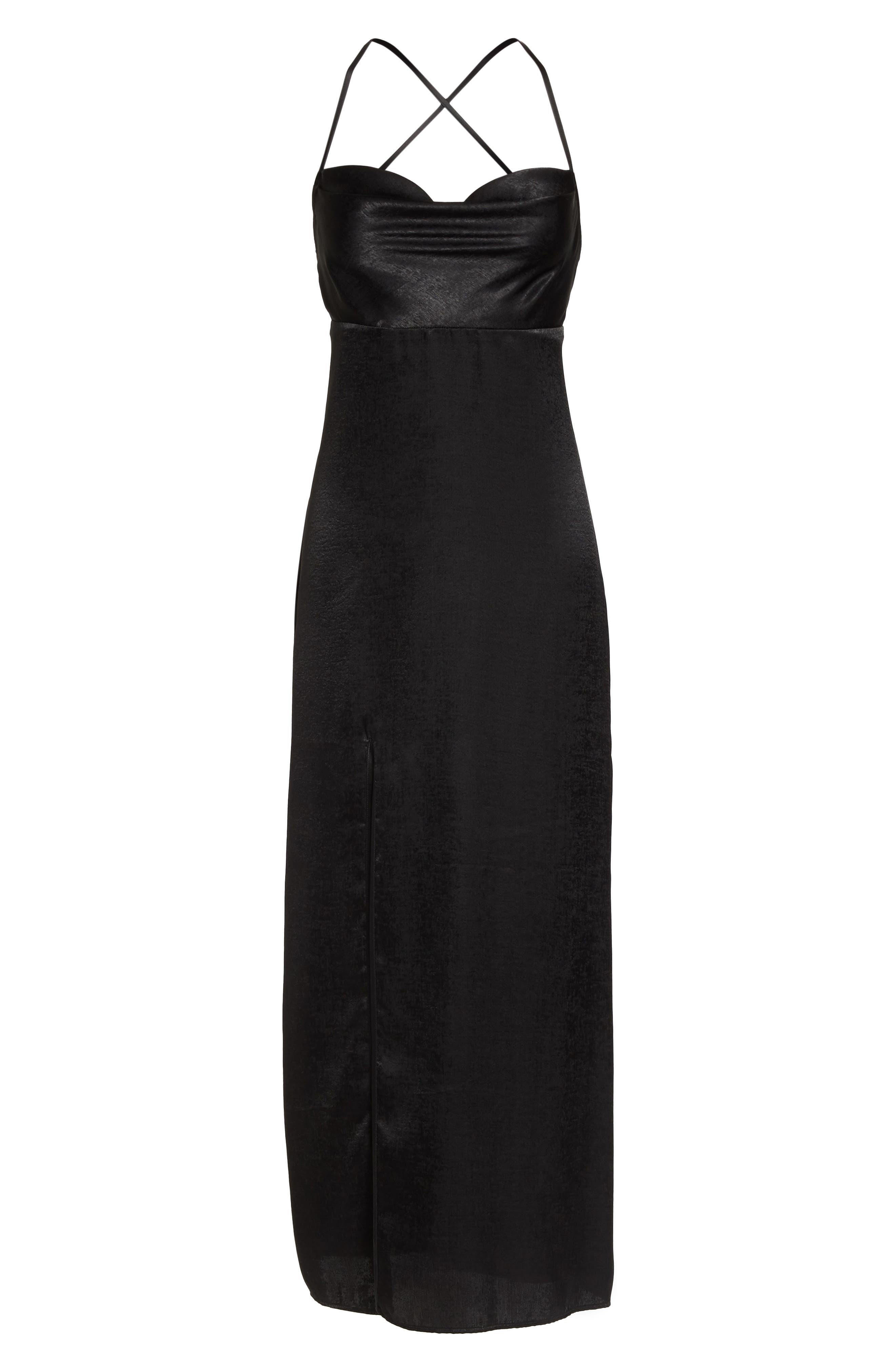 Winslet Gown,                             Alternate thumbnail 7, color,                             Black Sheen