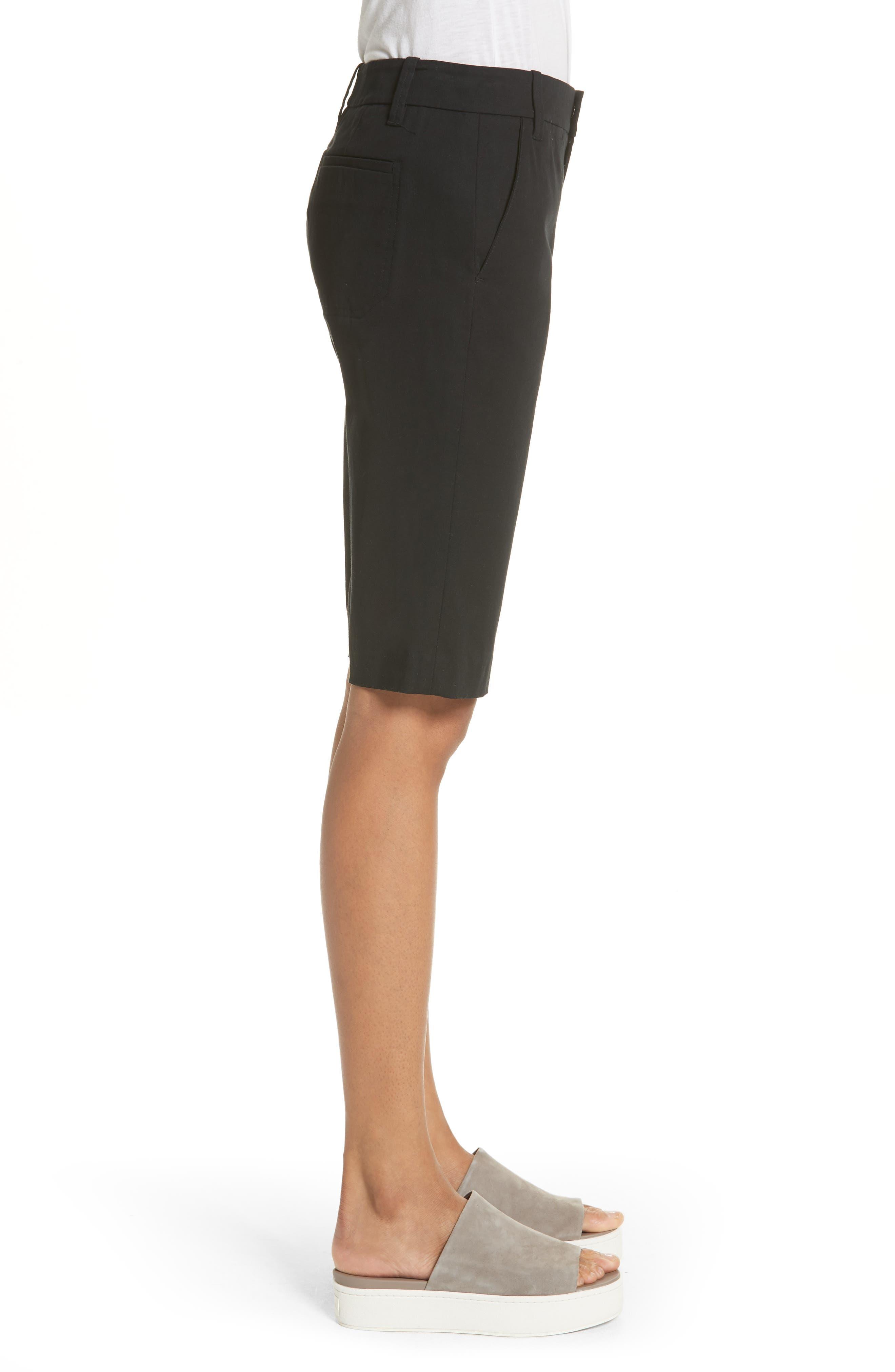 Bermuda Shorts,                             Alternate thumbnail 3, color,                             Black