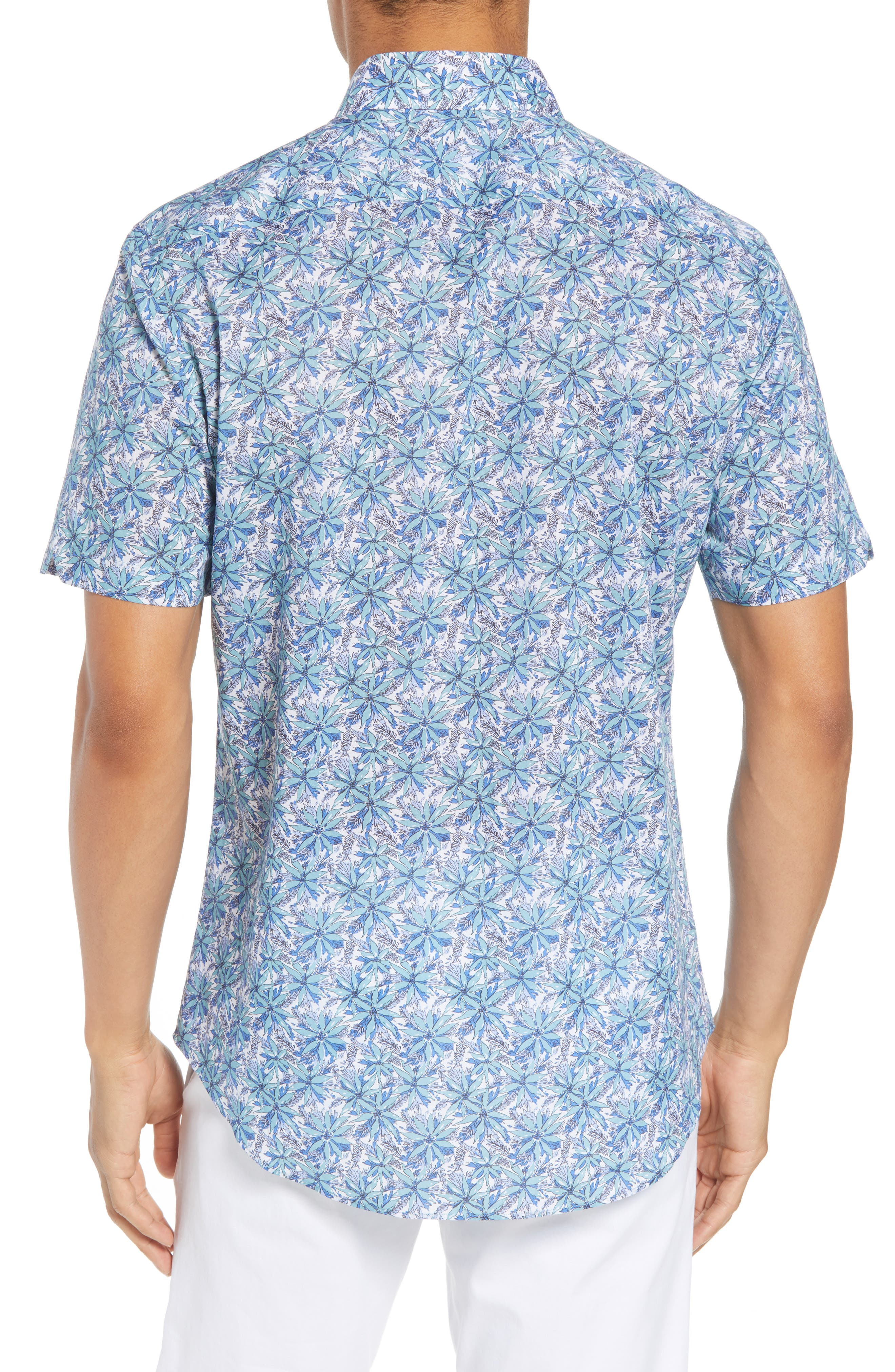 Goelzer Trim Fit Sport Shirt,                             Alternate thumbnail 3, color,                             Aqua