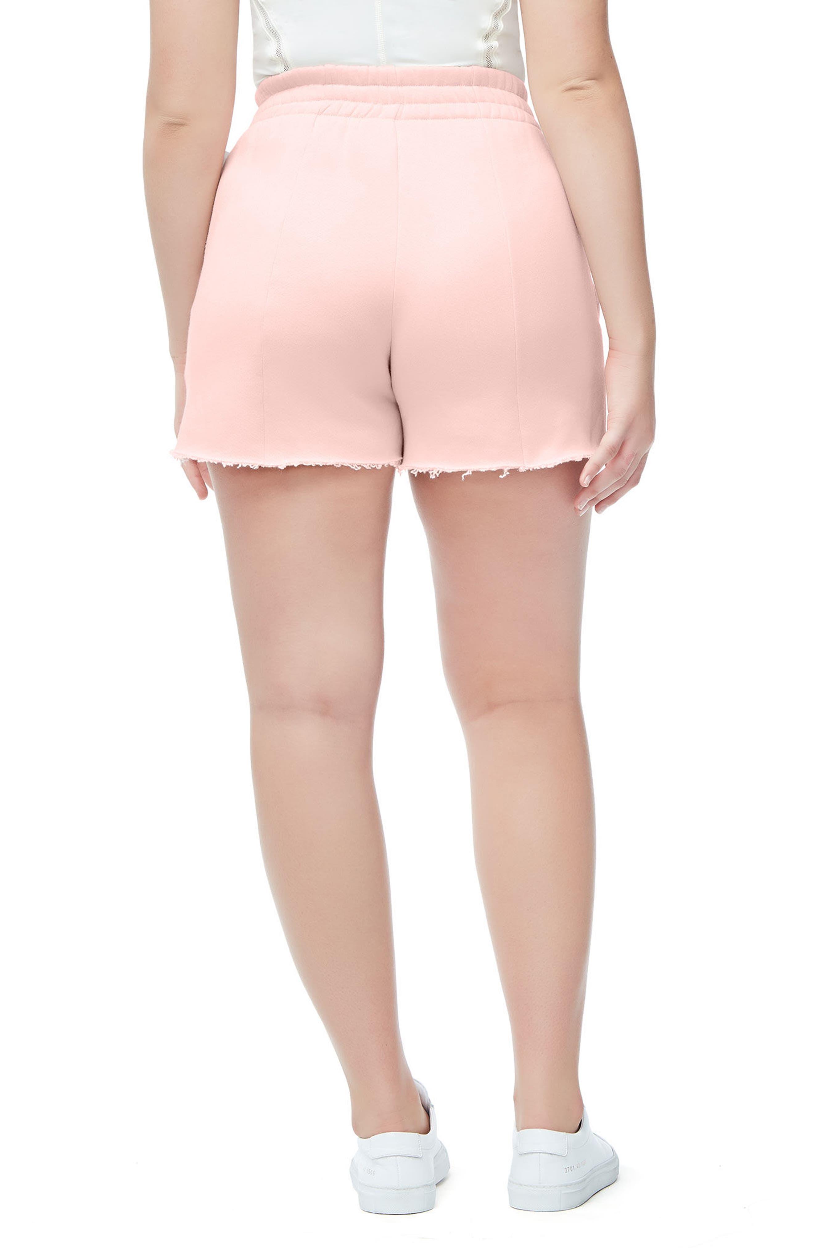 Alternate Image 4  - Good American Wide Leg Sweat Shorts (Regular & Plus Size)