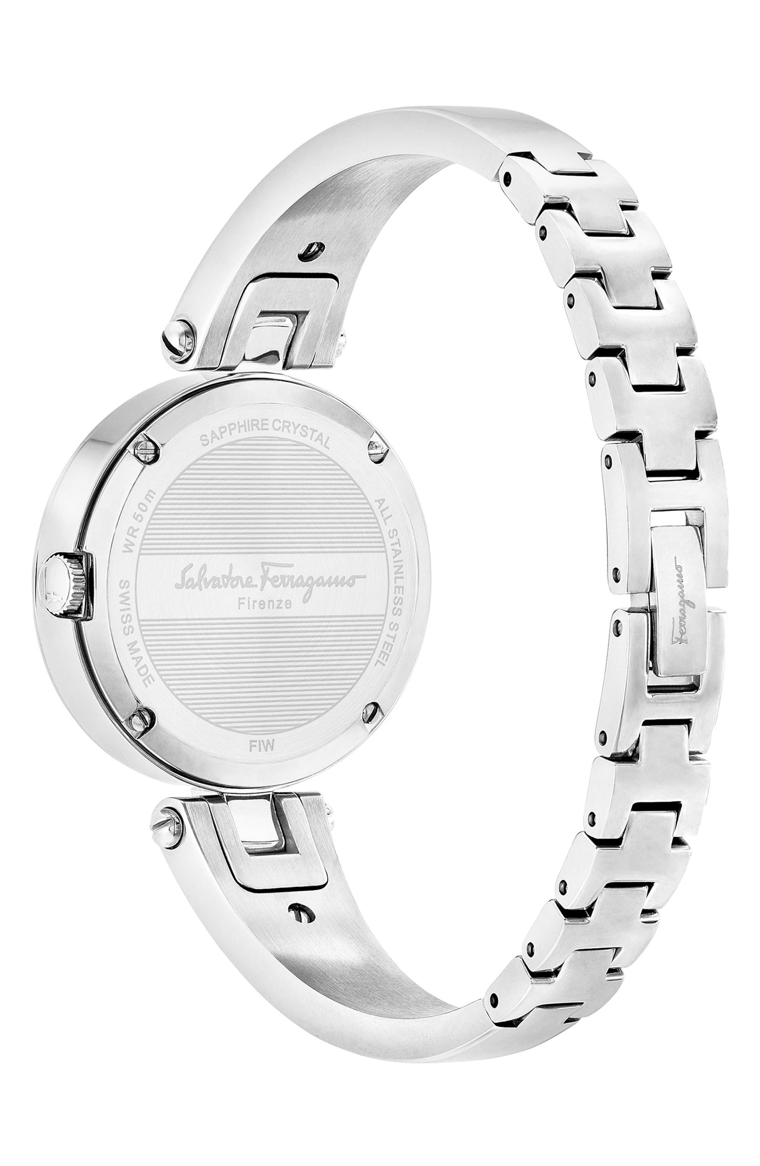 Gilion Diamond Bangle Watch, 32mm,                             Alternate thumbnail 2, color,                             Silver