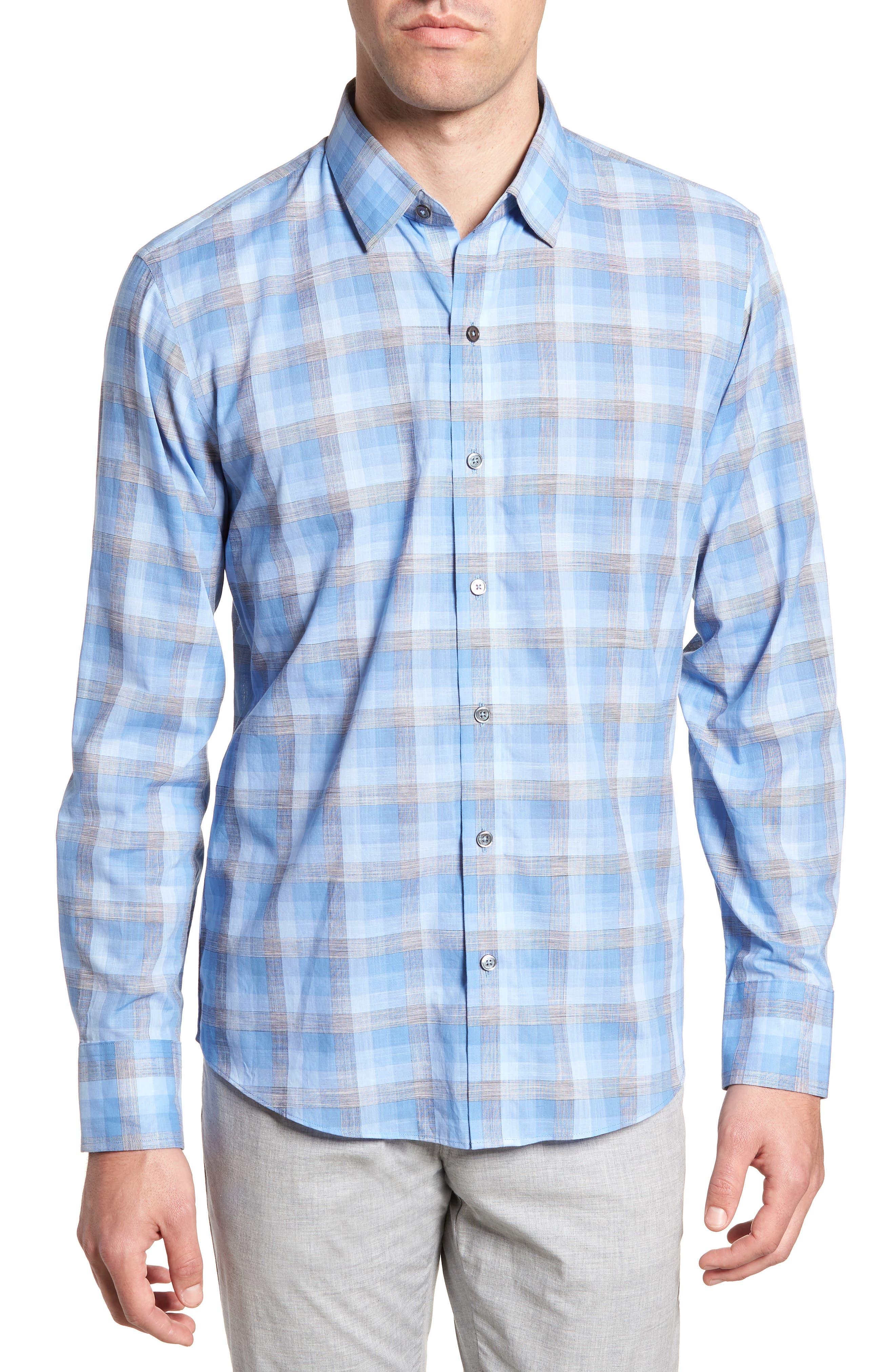 Asim Regular Fit Sport Shirt,                         Main,                         color, Ocean