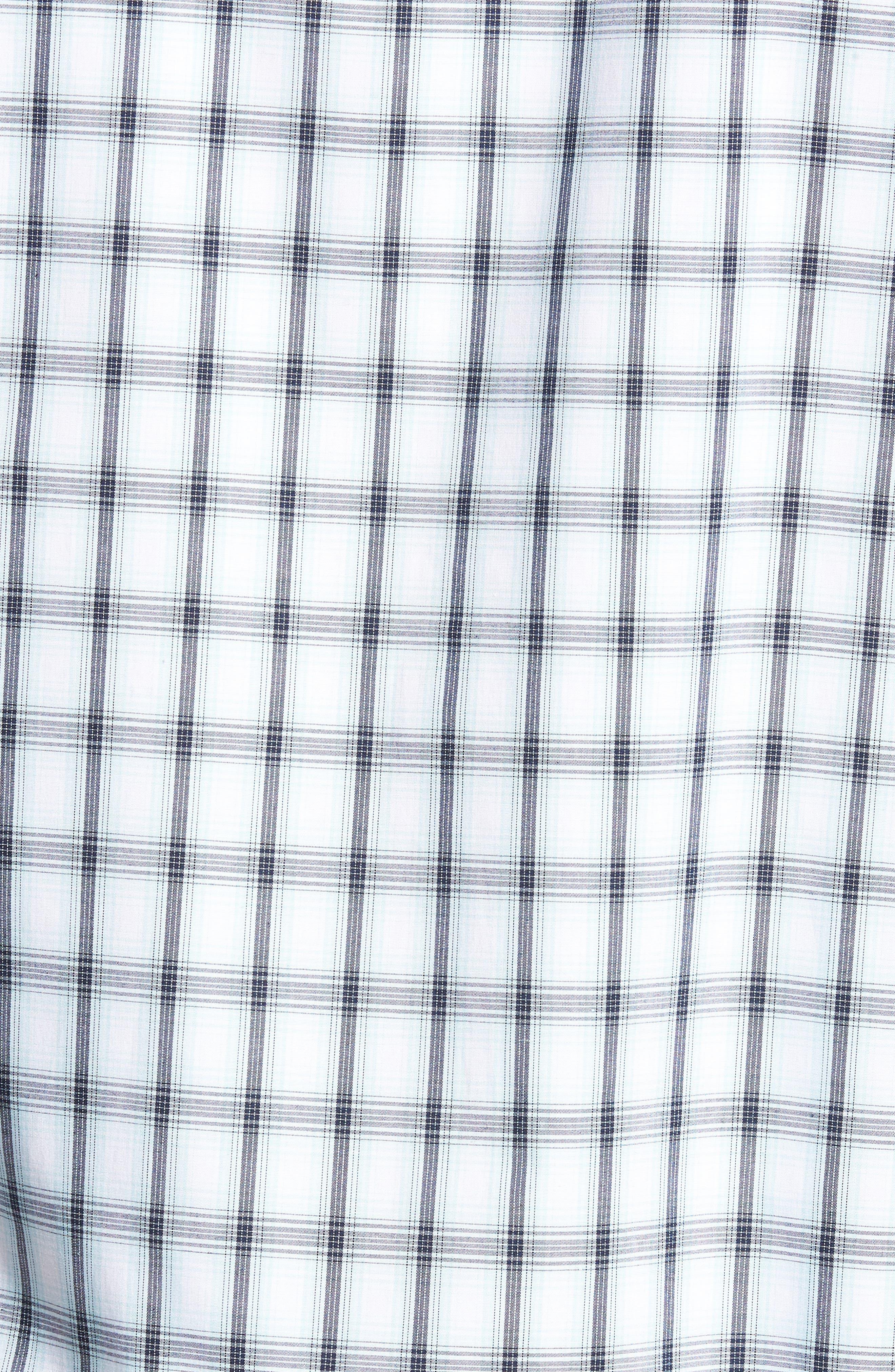 Tech-Smart Regular Fit Check Sport Shirt,                             Alternate thumbnail 5, color,                             Blue Orydalis Ombre Check