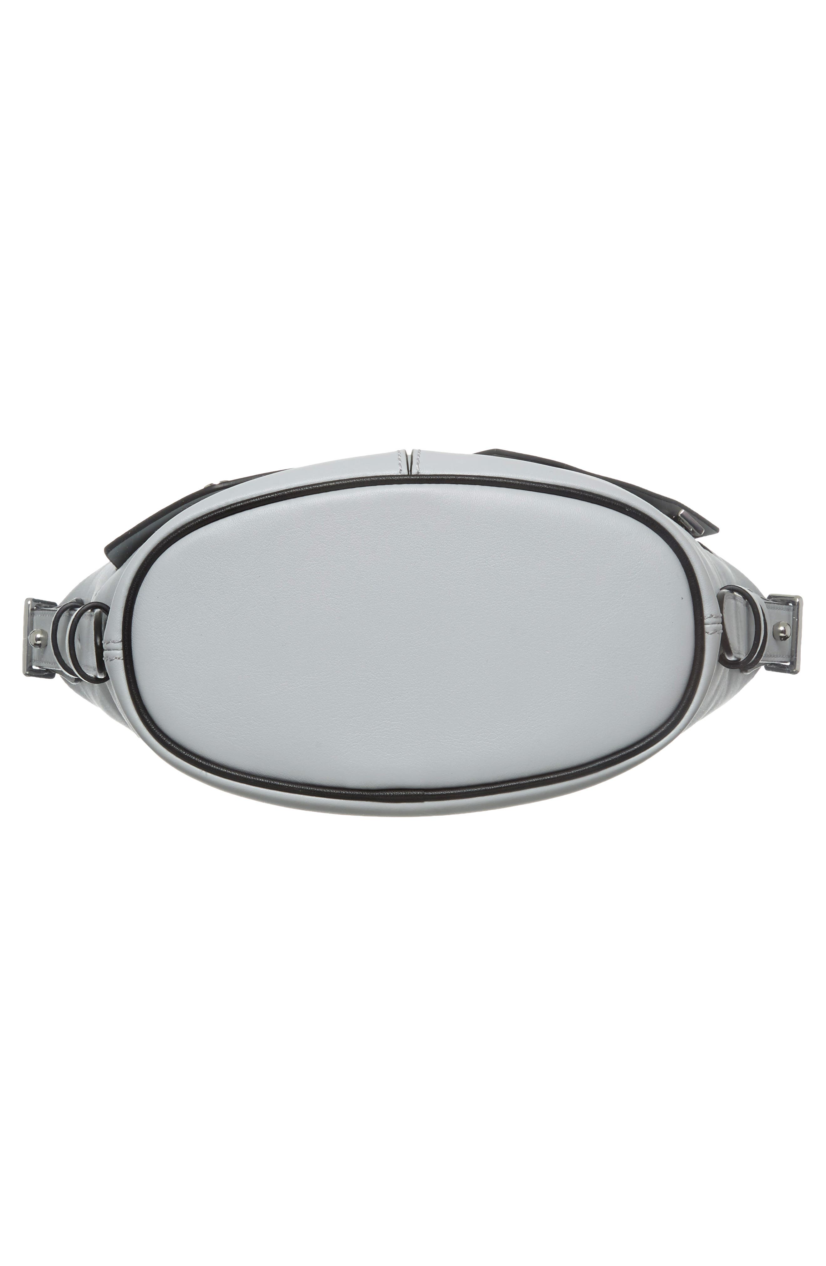 The Mini Sling Convertible Leather Hobo,                             Alternate thumbnail 6, color,                             Light Grey