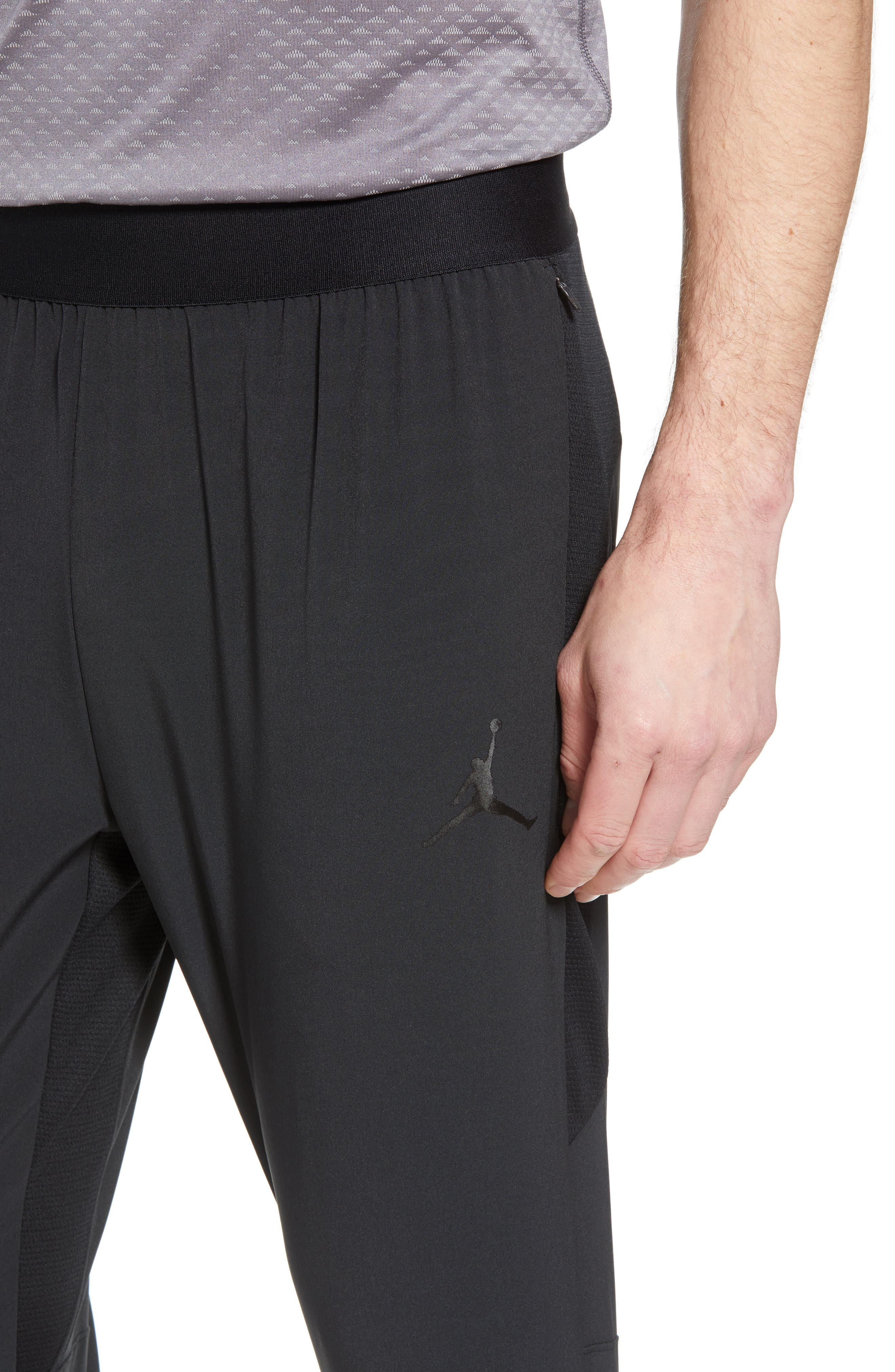 Ult Flight Pants,                             Alternate thumbnail 4, color,                             Black/ Black