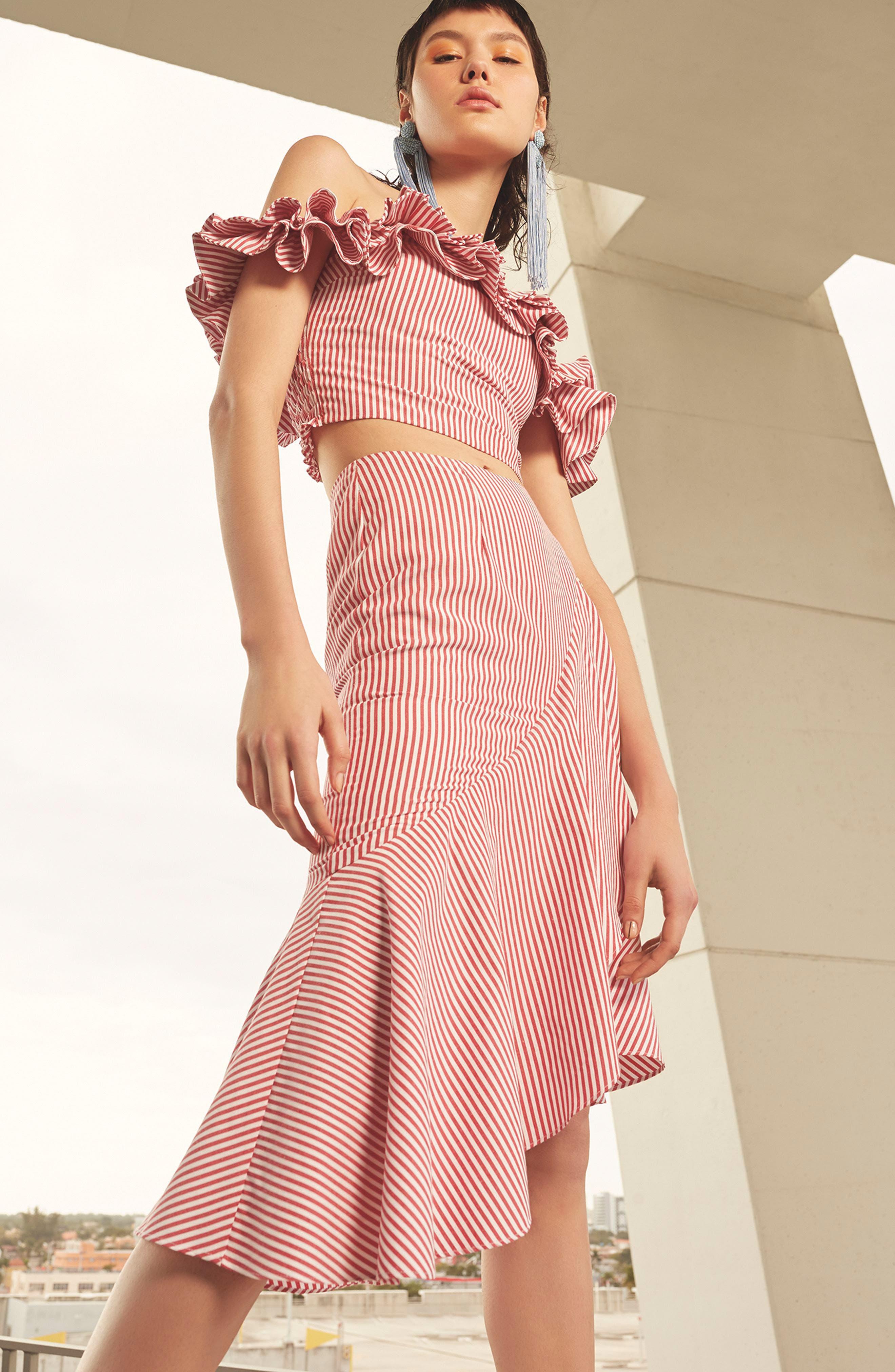 Naples Ruffle Skirt,                             Alternate thumbnail 9, color,
