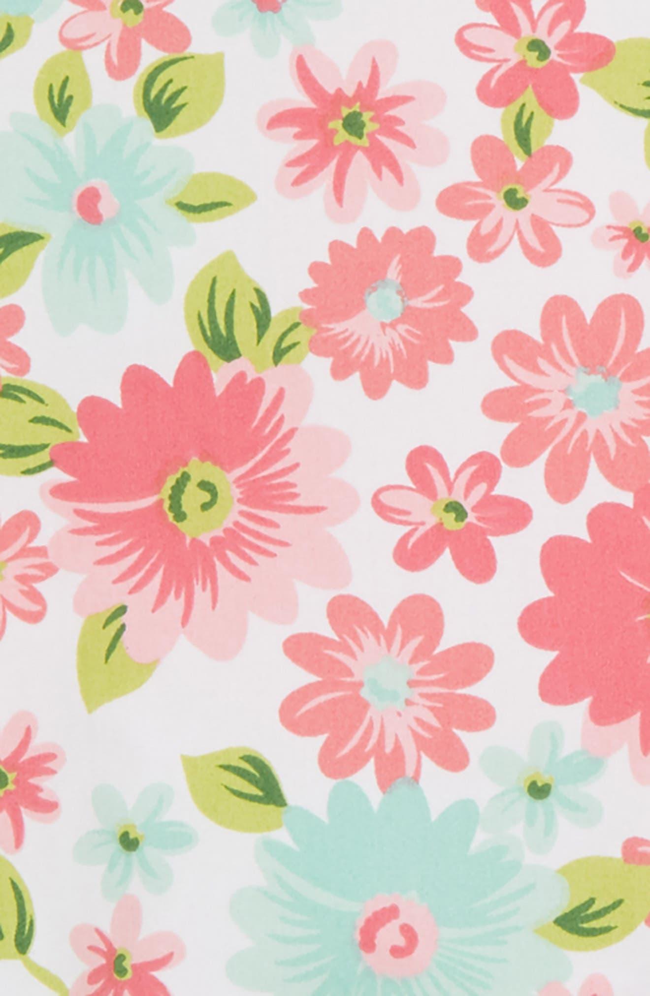 Daisy Tunic, Leggings & Headband Set,                             Alternate thumbnail 2, color,                             Floral