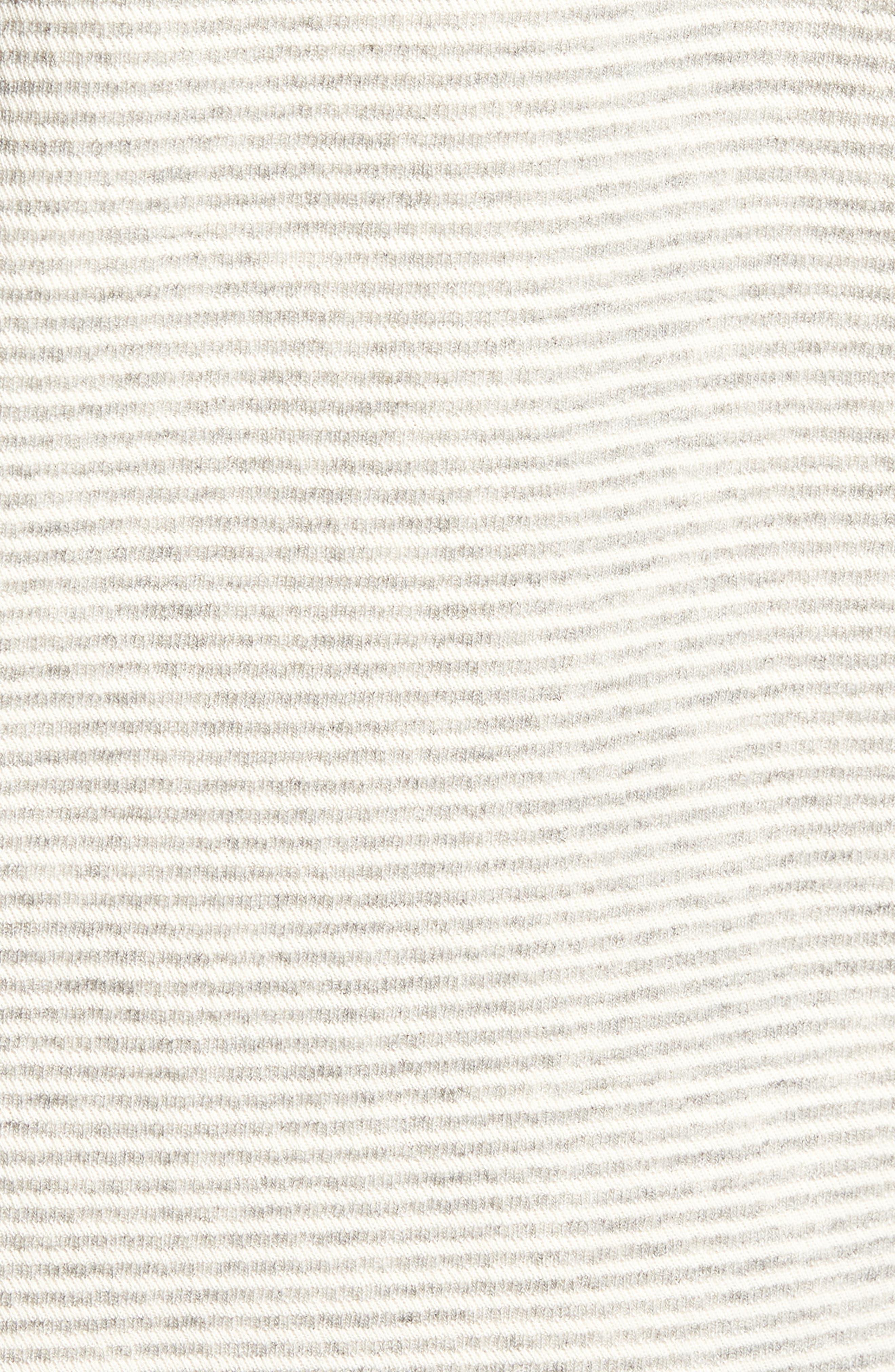 Cotton Blend Hoodie,                             Alternate thumbnail 5, color,                             Grey/ Natural