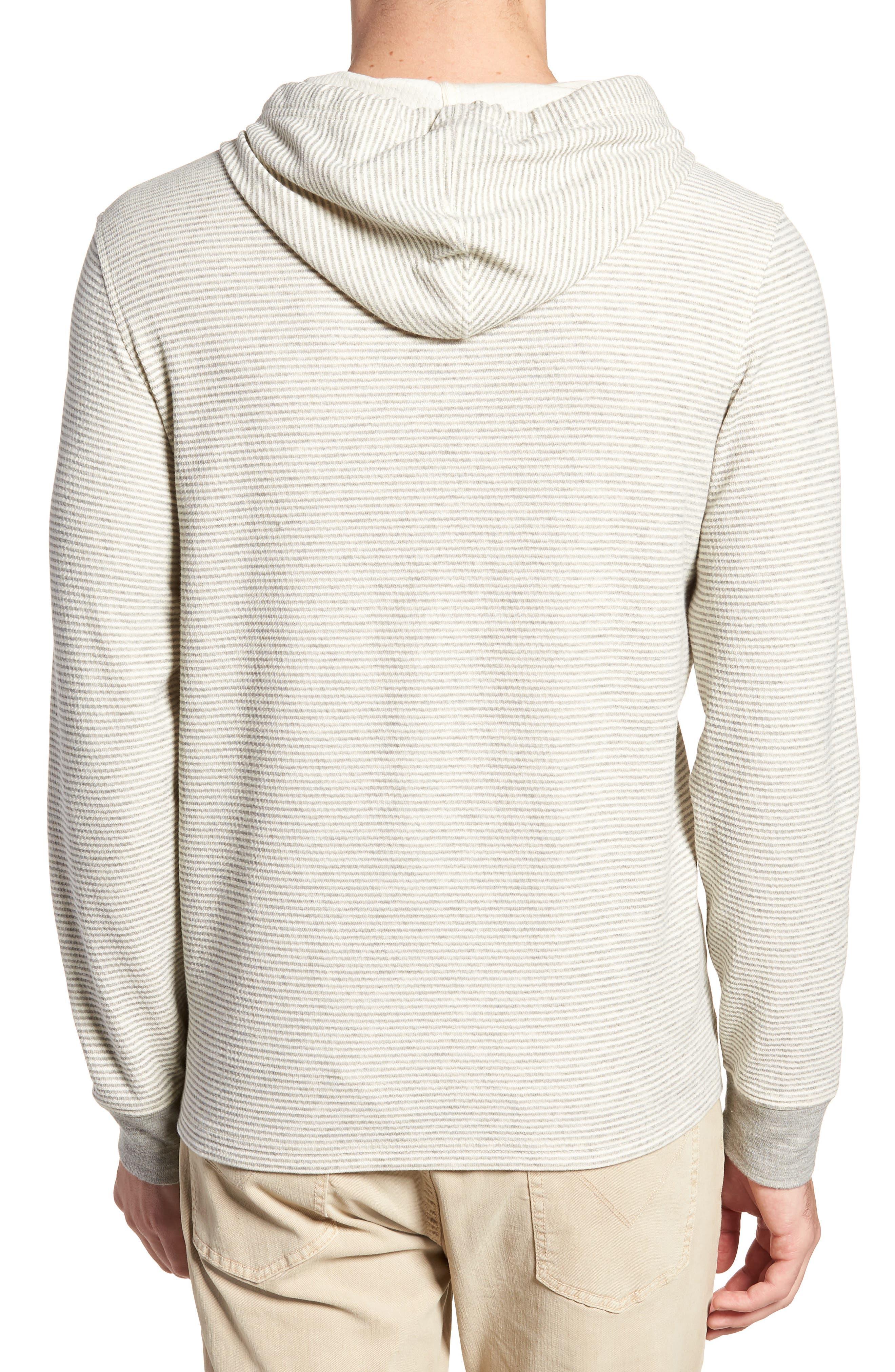 Cotton Blend Hoodie,                             Alternate thumbnail 2, color,                             Grey/ Natural