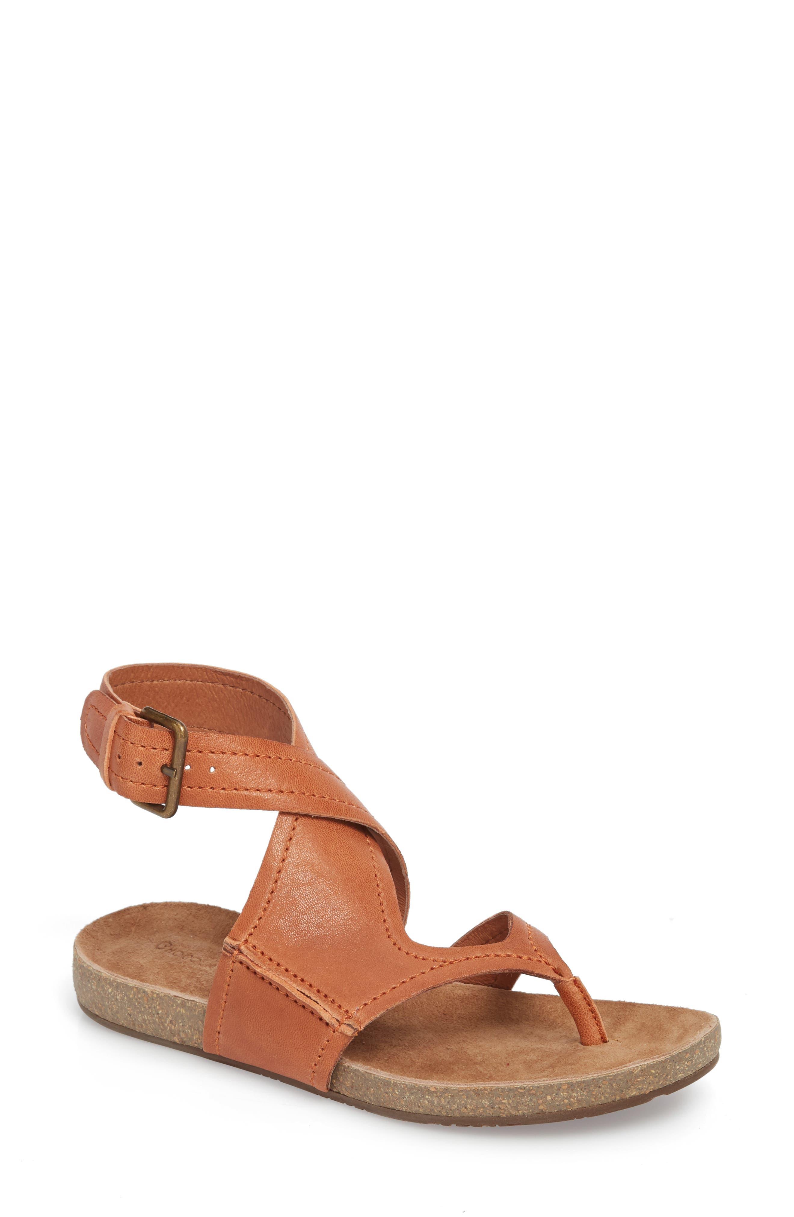 Yagger Sandal,                         Main,                         color, Camel Leather