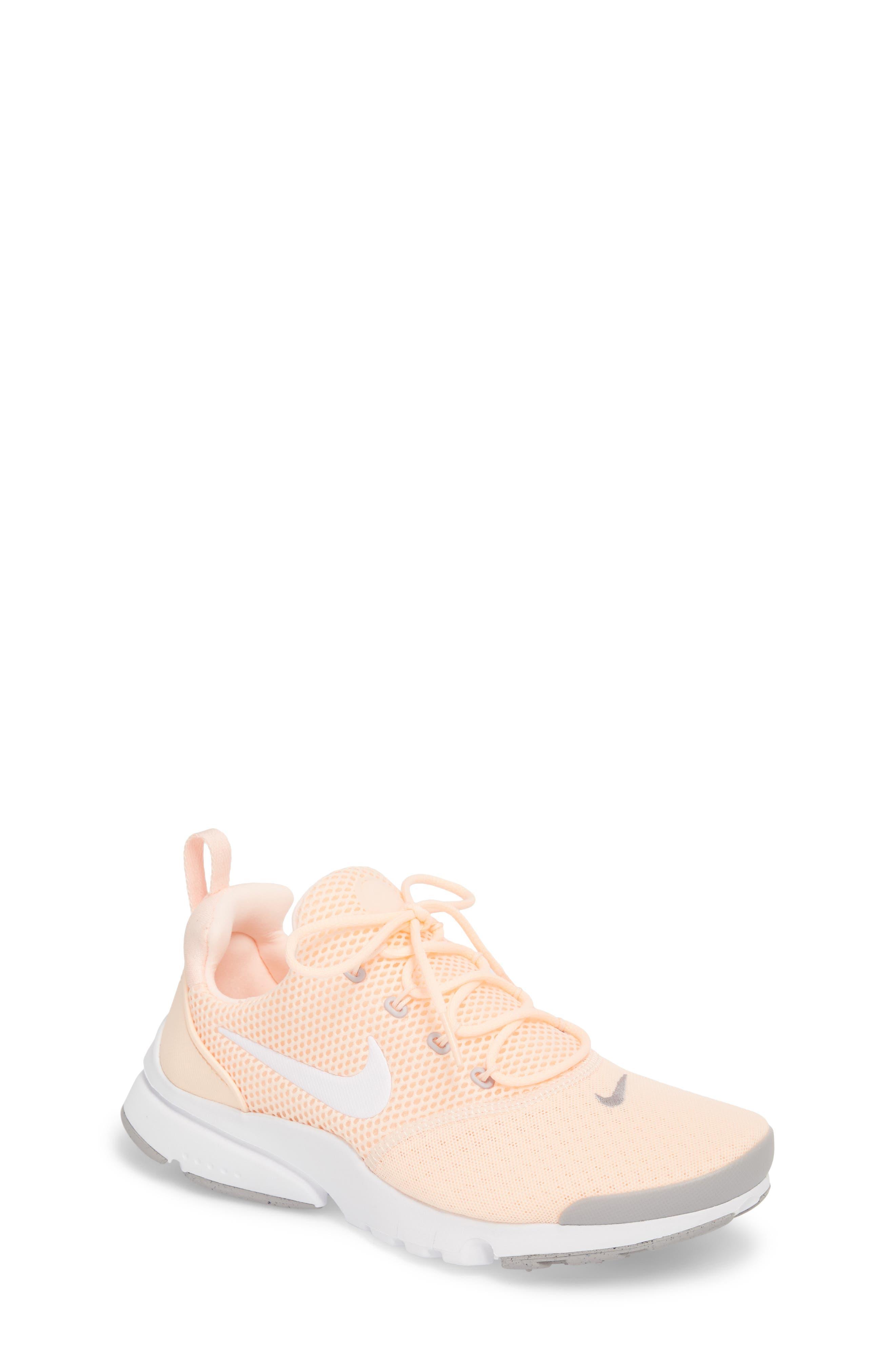 Presto Fly Sneaker,                         Main,                         color, Crimson Tint/ White/ Grey