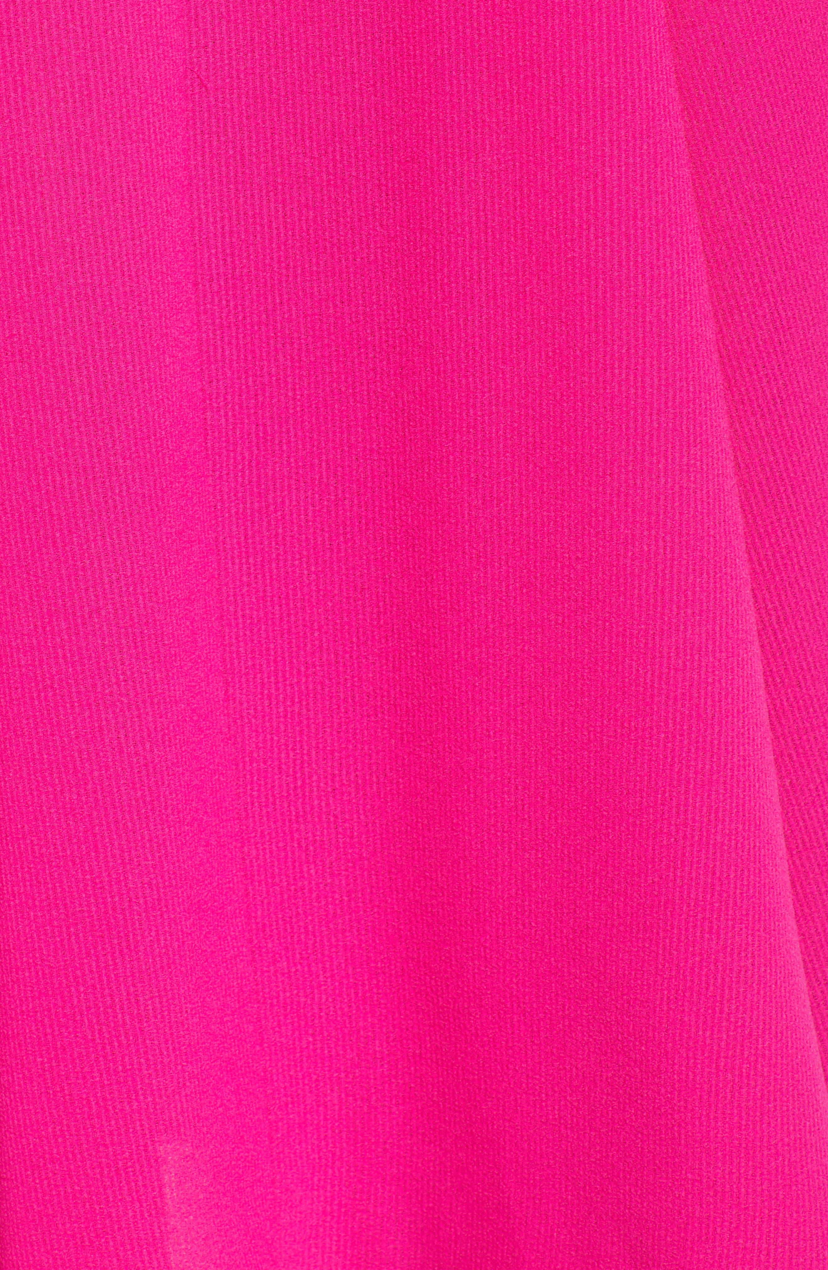 Chiffon Midi Dress,                             Alternate thumbnail 7, color,                             Fuchsia