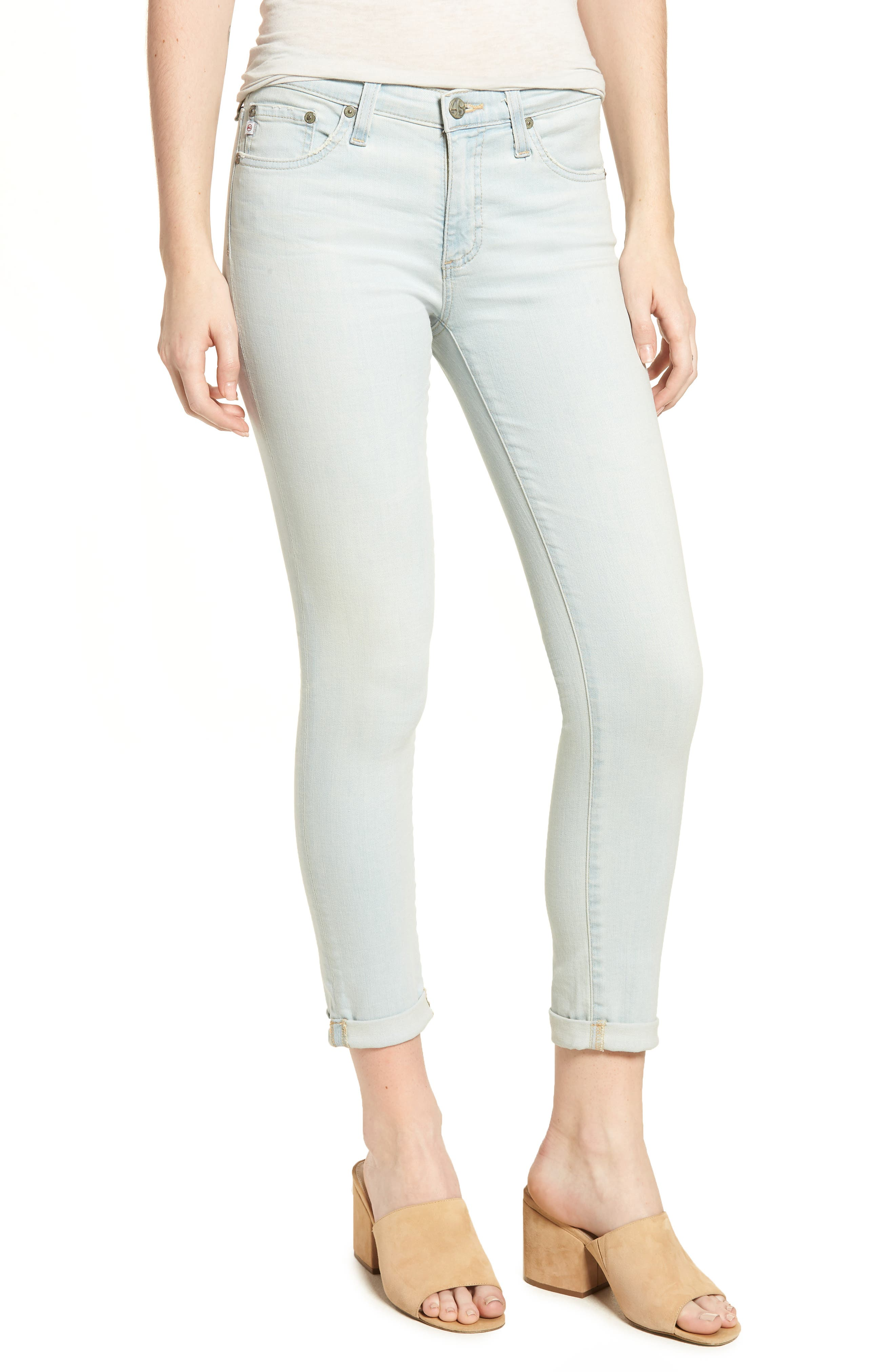 The Prima Roll-Up Cigarette Leg Skinny Jeans,                         Main,                         color, 26 Years-Sandcastles