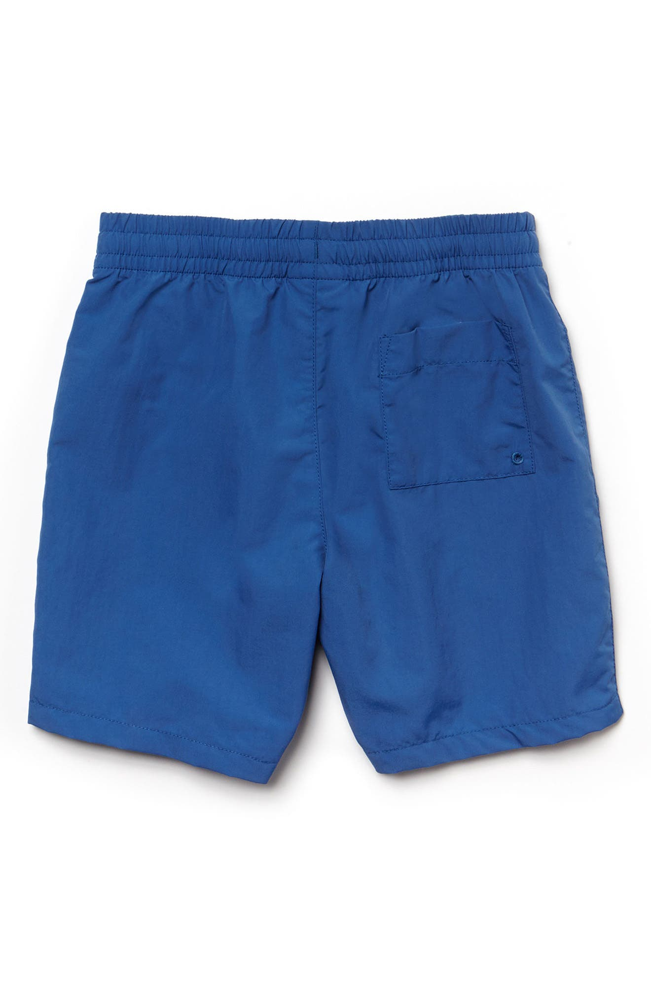 Classic Solid Swim Trunks,                             Alternate thumbnail 2, color,                             Elysee Blue/ Undergrowth Green