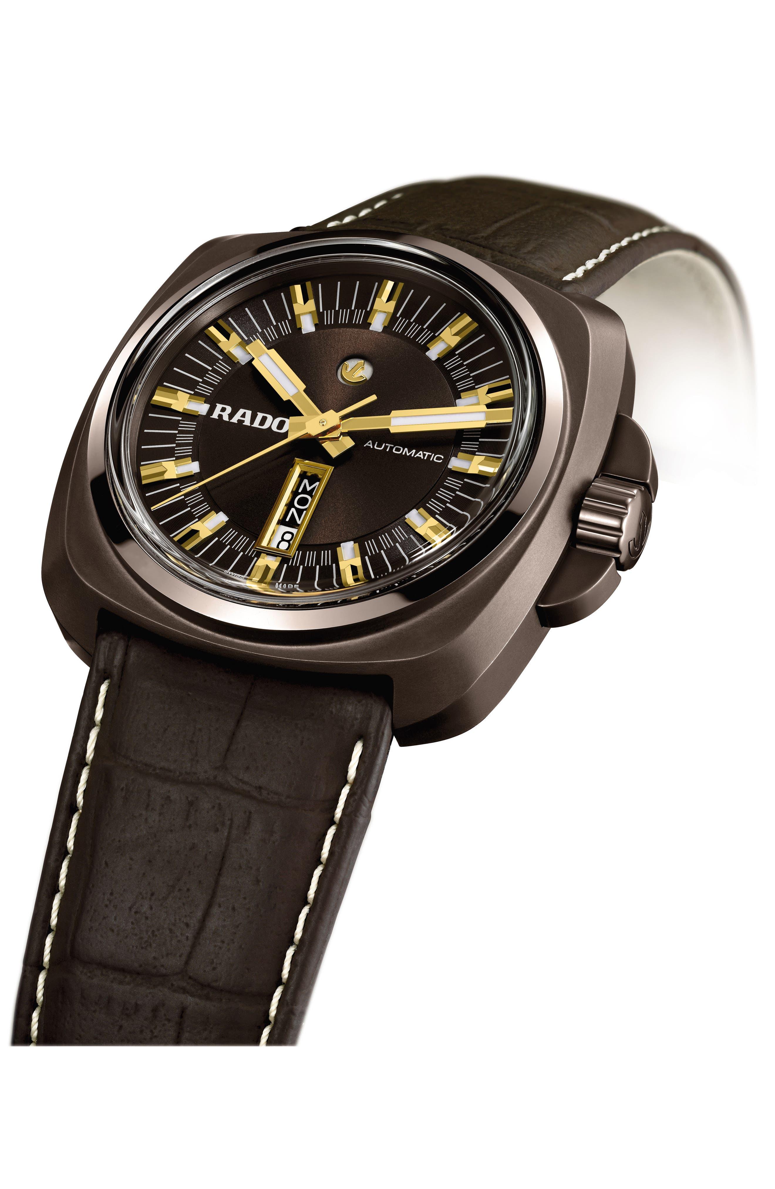Alternate Image 4  - RADO HyperChrome 1616 Automatic Leather Strap Watch, 46mm
