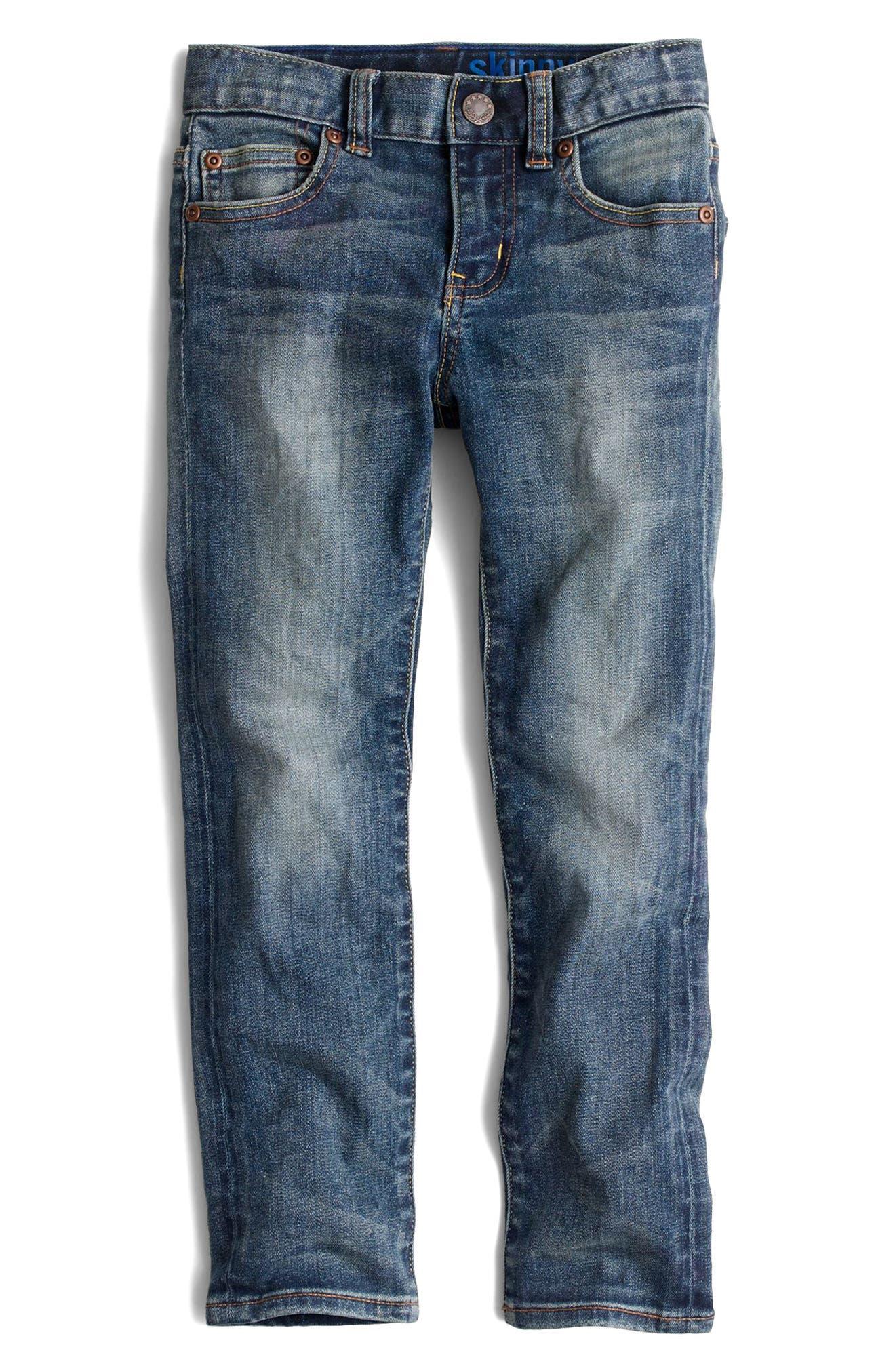 Vintage Wash Stretch Skinny Fit Jeans,                             Main thumbnail 1, color,                             Vintage Wash