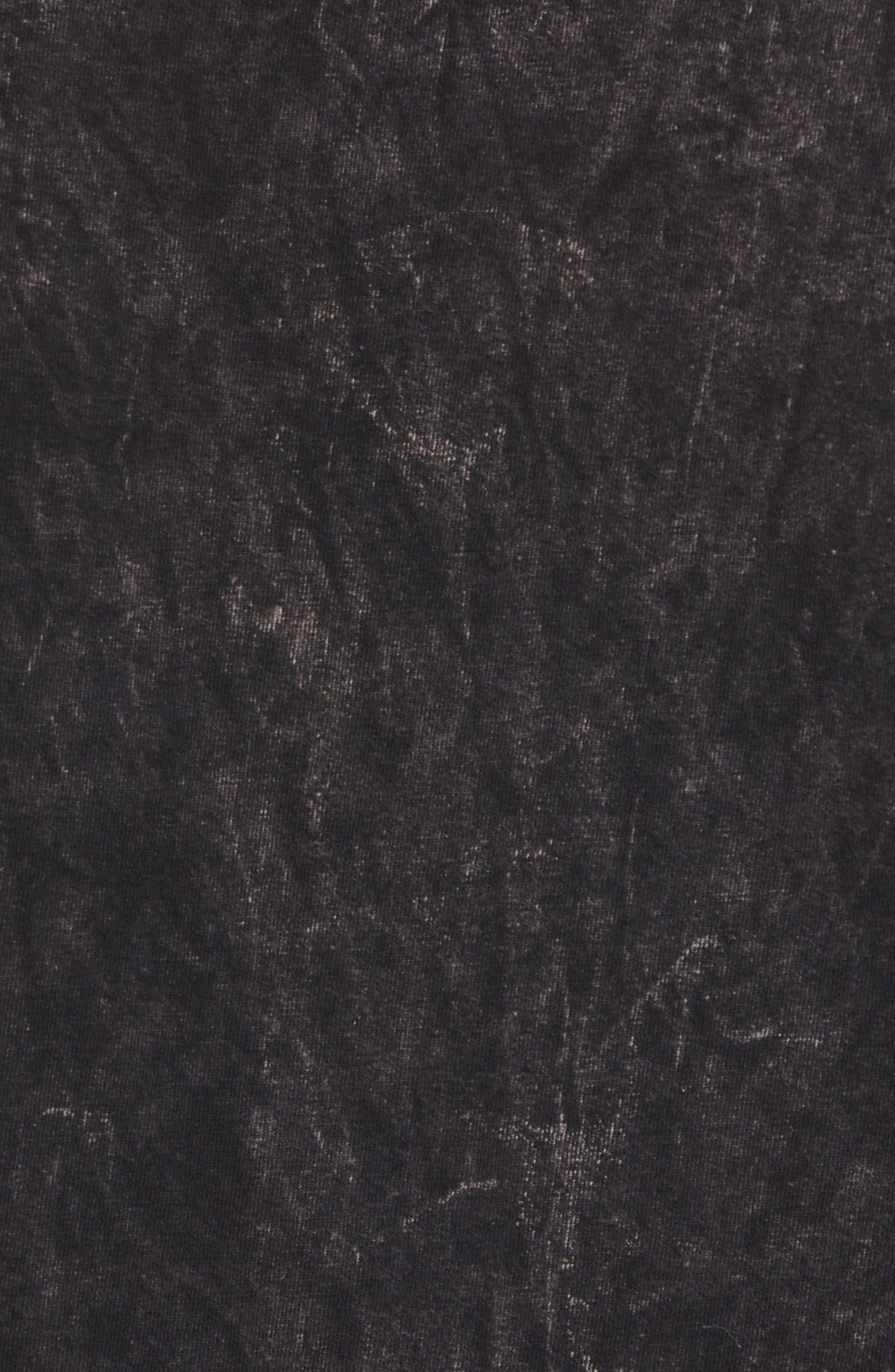 Bowie Acid Wash T-Shirt,                             Alternate thumbnail 5, color,                             Black Tee Bowie