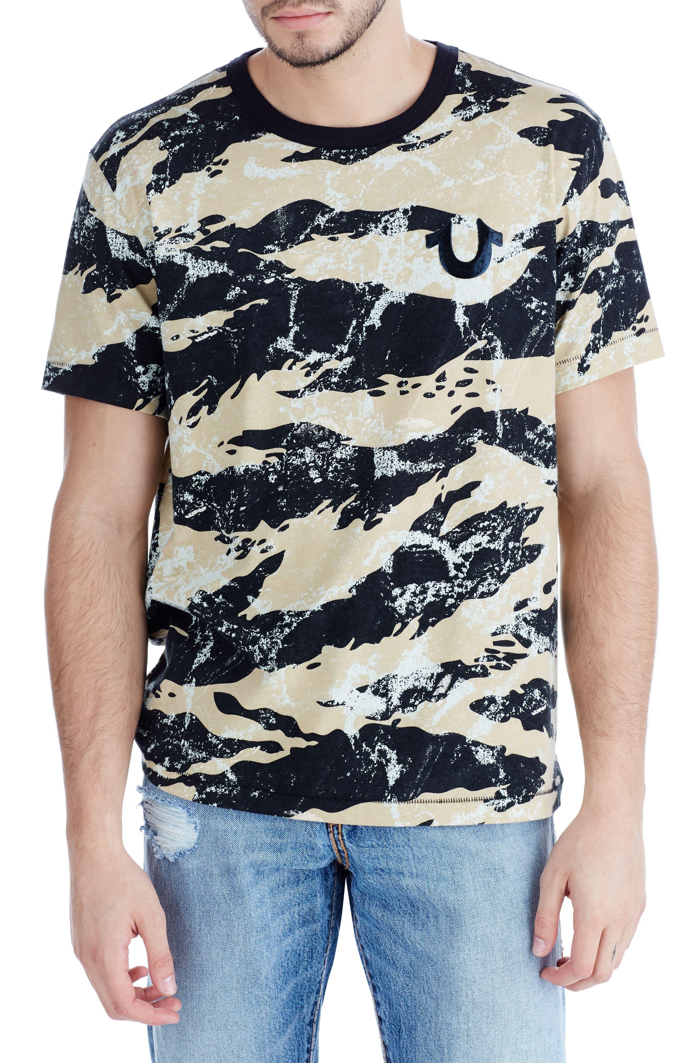 Camo Buddha T-Shirt,                         Main,                         color, Geo Camo