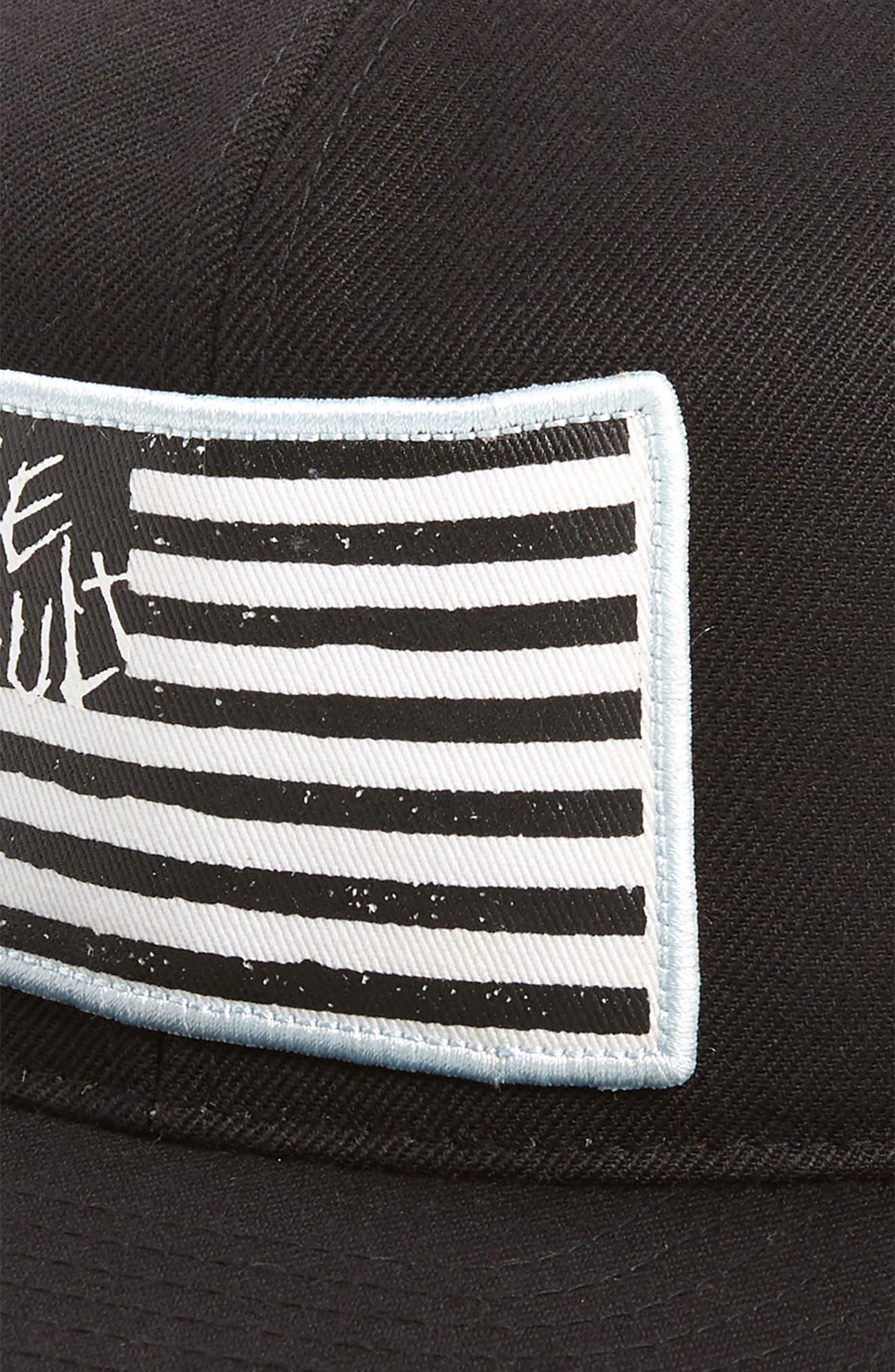 Wave Core Baseball Cap,                             Alternate thumbnail 3, color,                             Black