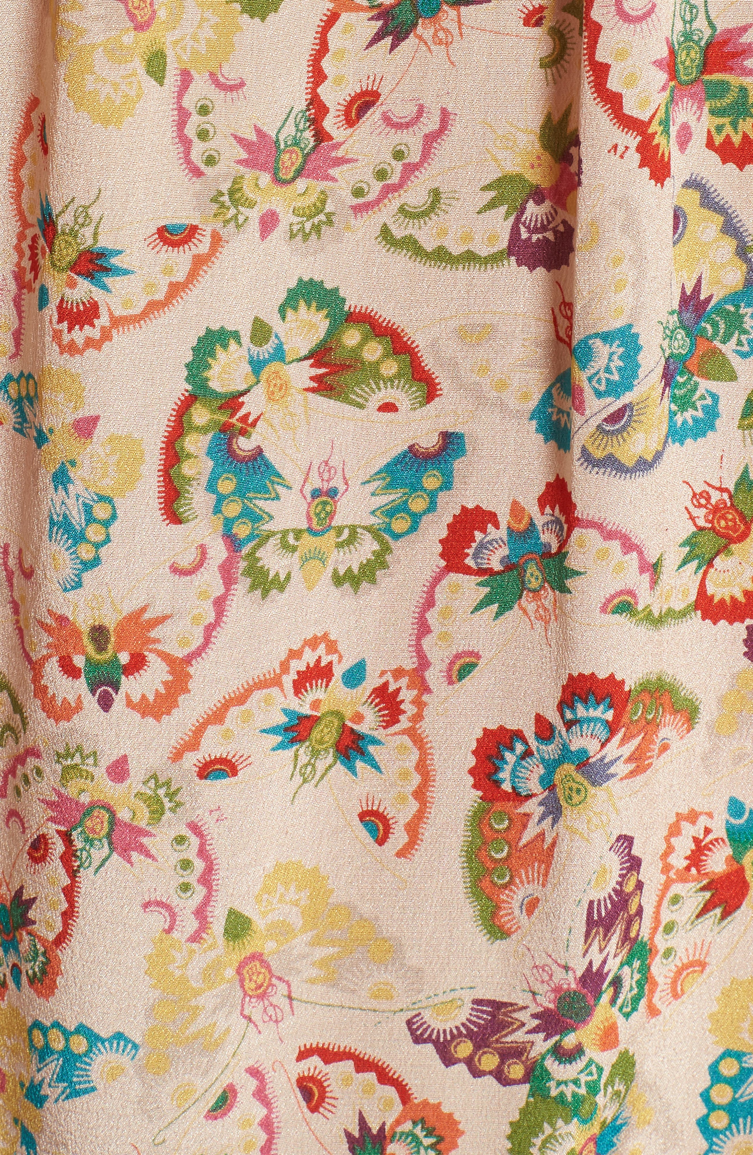 Tease Butterfly Off the Shoulder Silk Top,                             Alternate thumbnail 6, color,                             Ecru