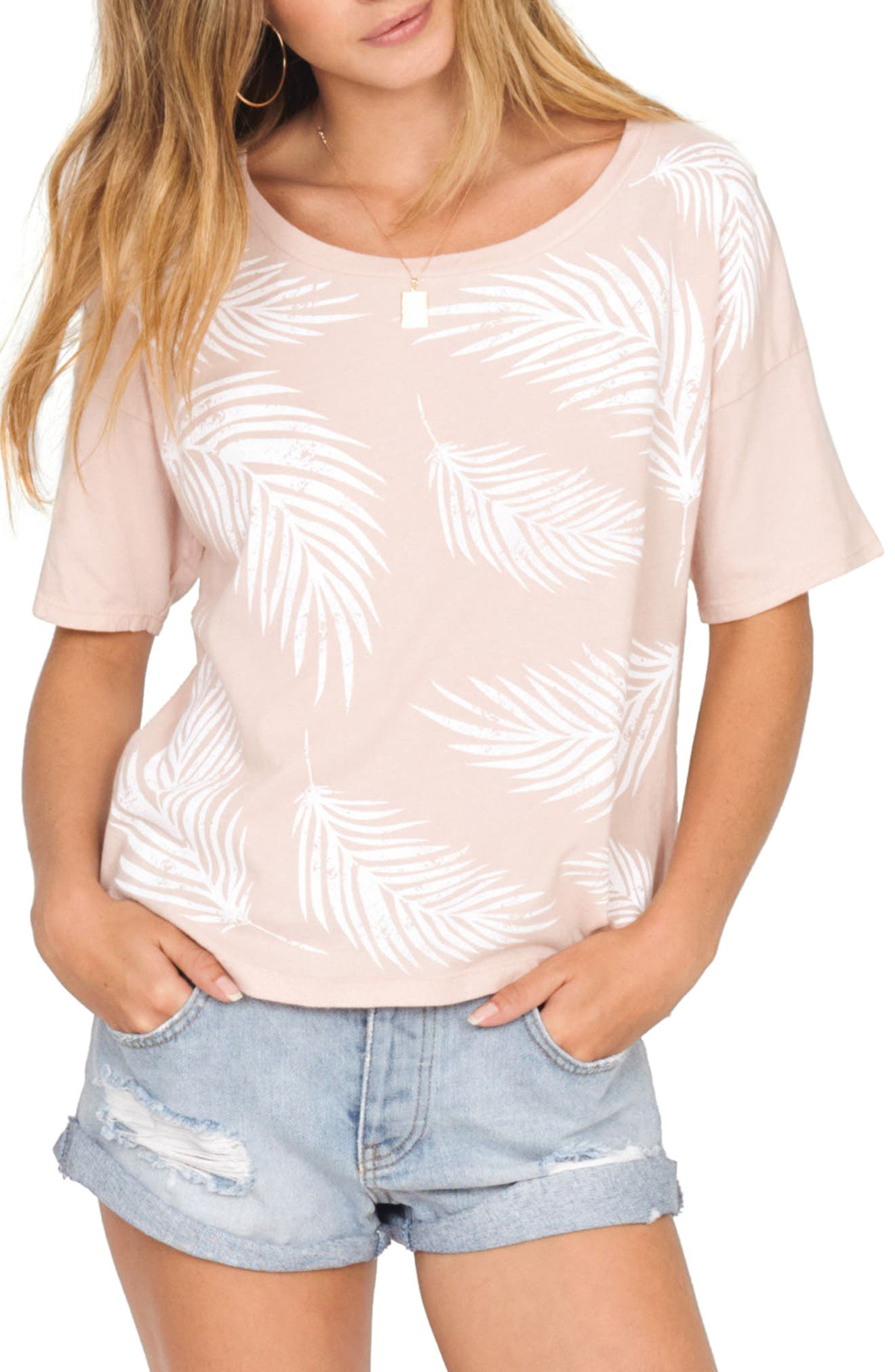 Roll with It Tee,                         Main,                         color, Rose