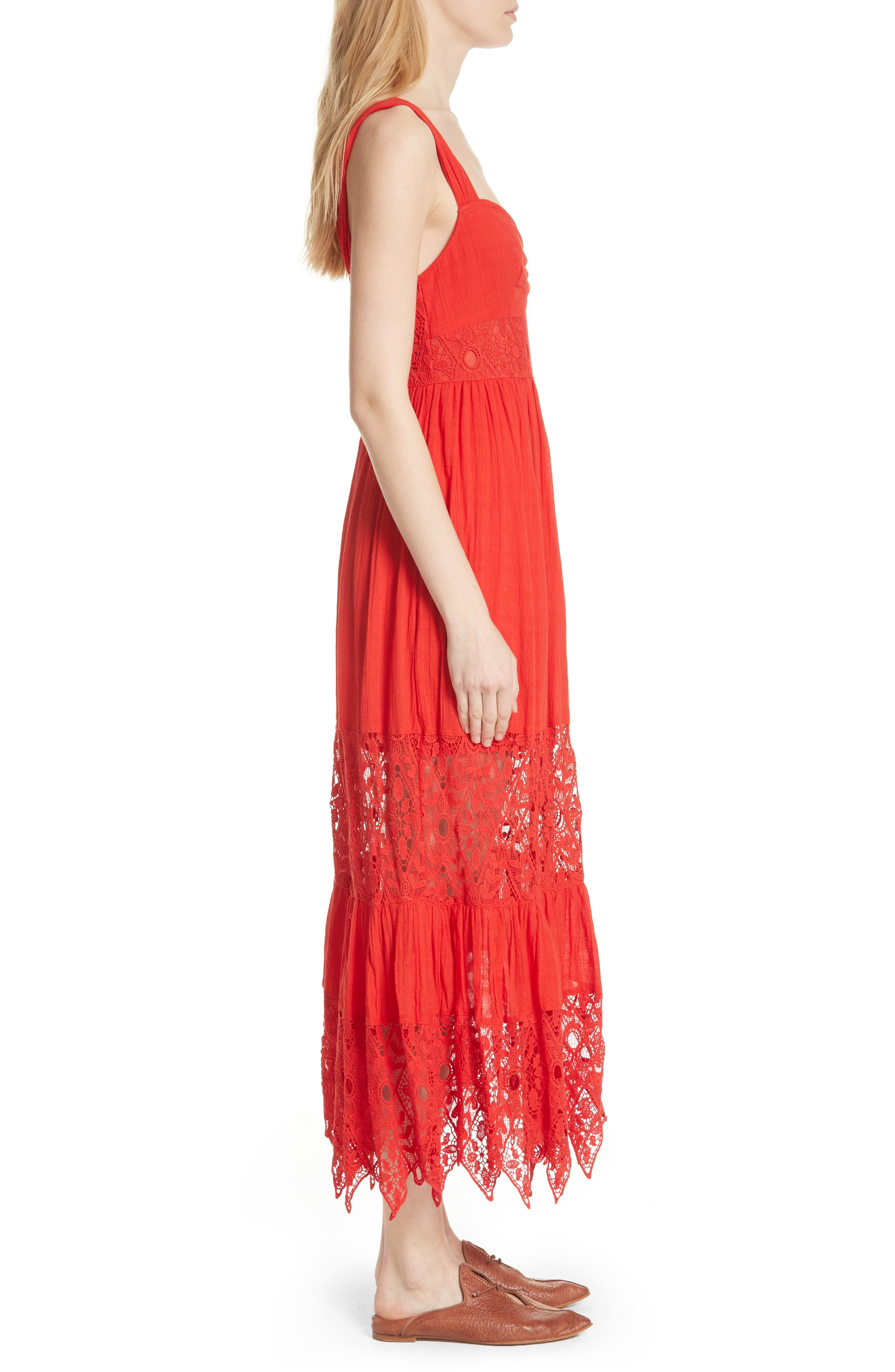 Caught Your Eye Maxi Dress,                             Alternate thumbnail 3, color,                             Red