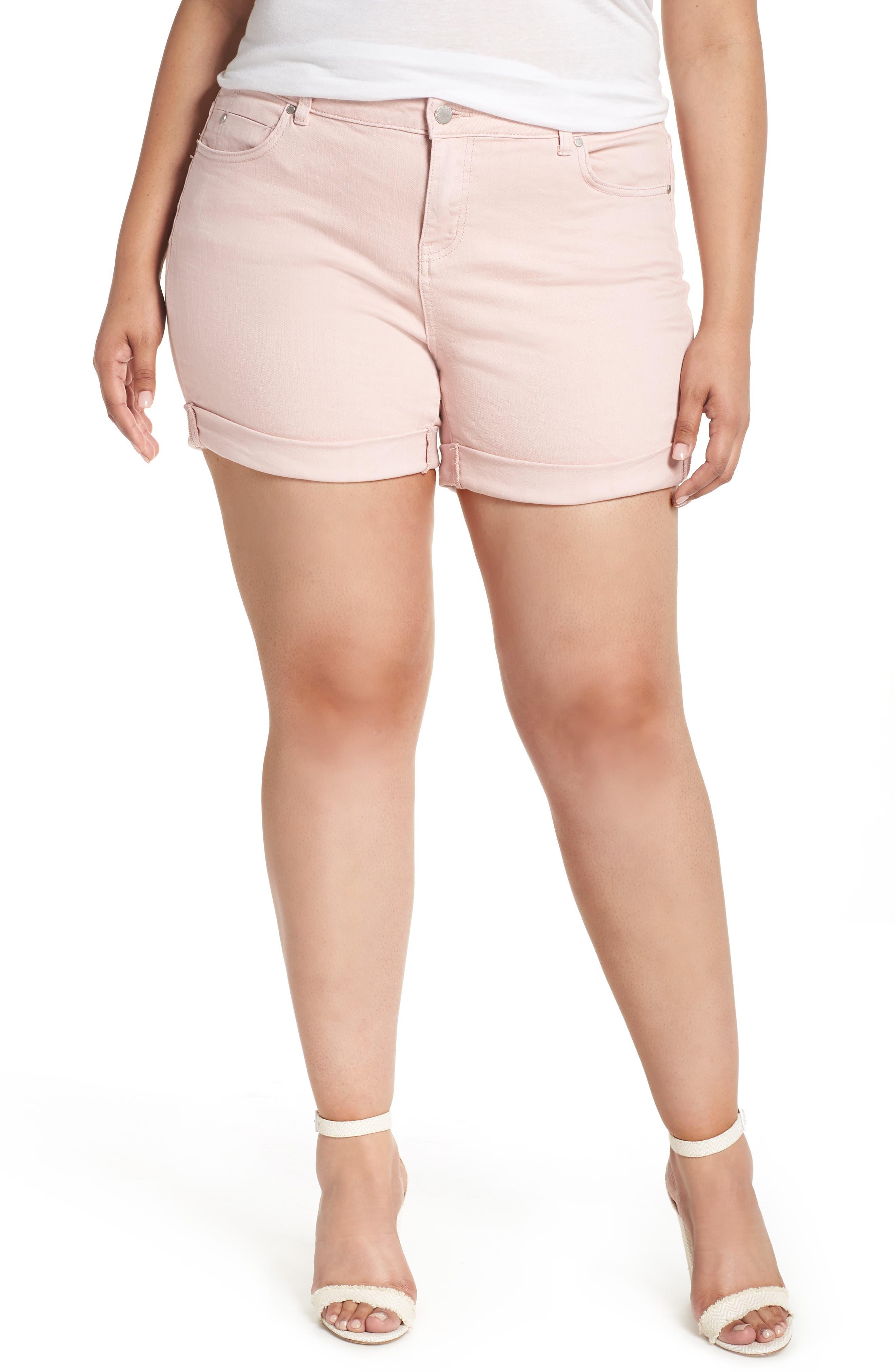 Caslon® Boyfriend Denim Shorts (Plus Size)