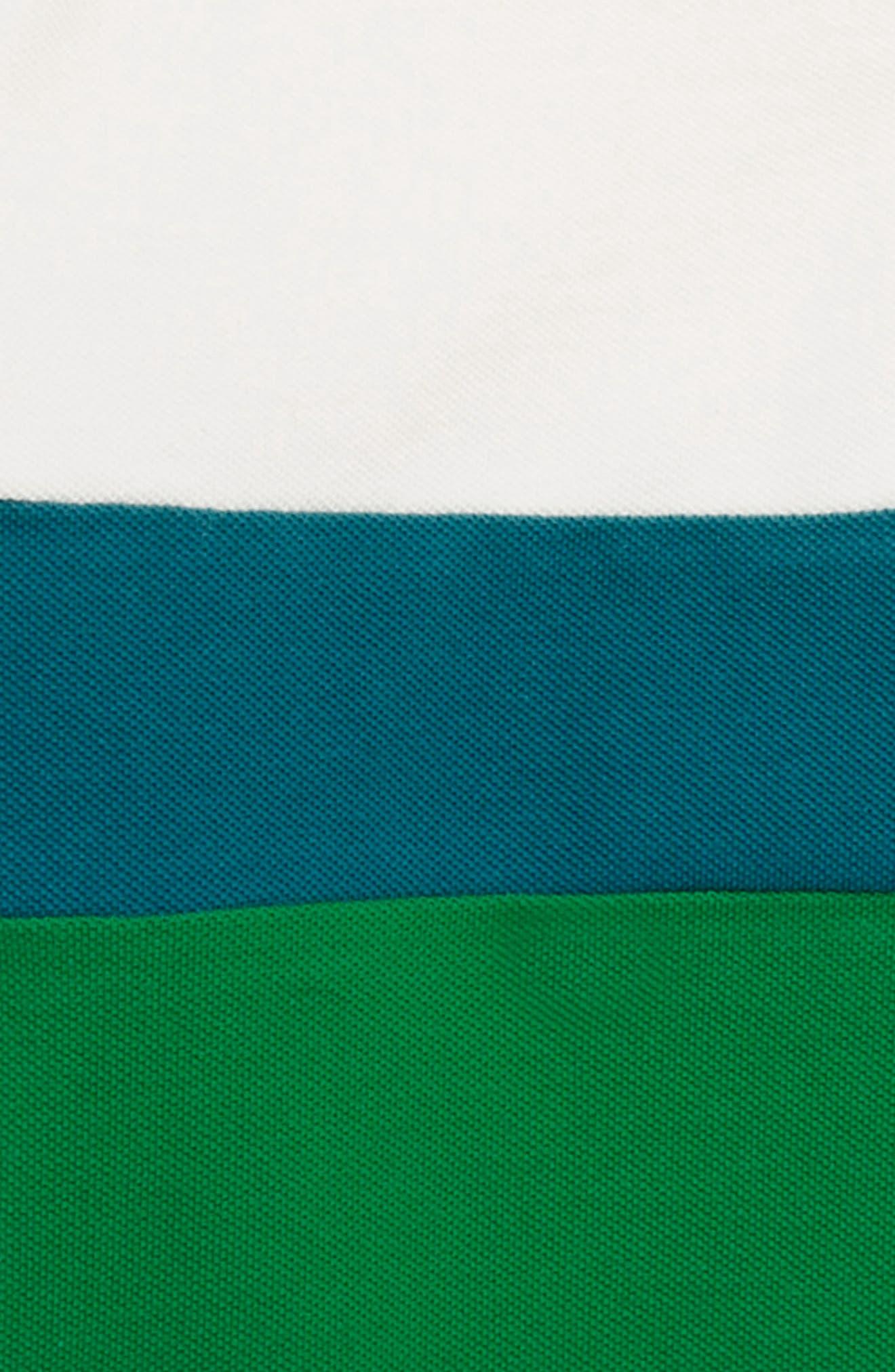 Colorblock Piqué Polo,                             Alternate thumbnail 2, color,                             Ecru/ Runner Bean Green