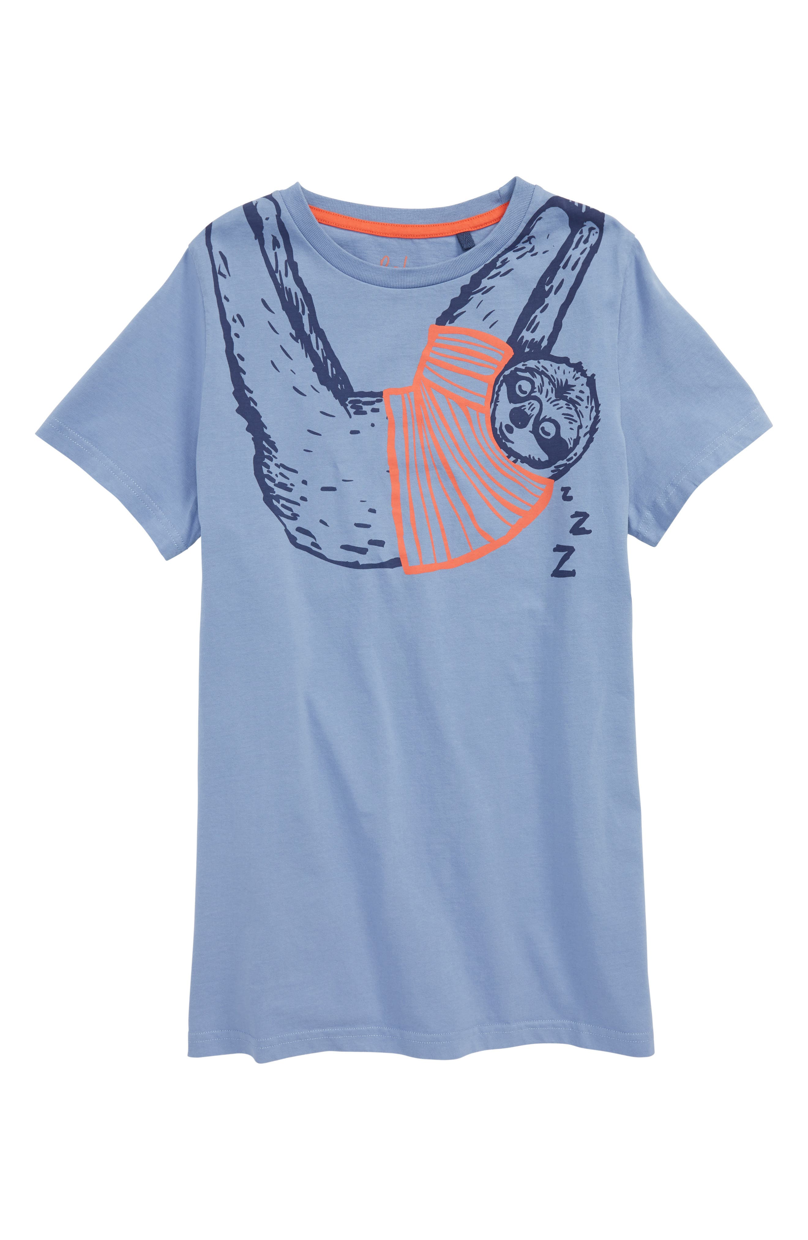 Arty Sloth T-Shirt,                         Main,                         color, Hook Blue Sloth