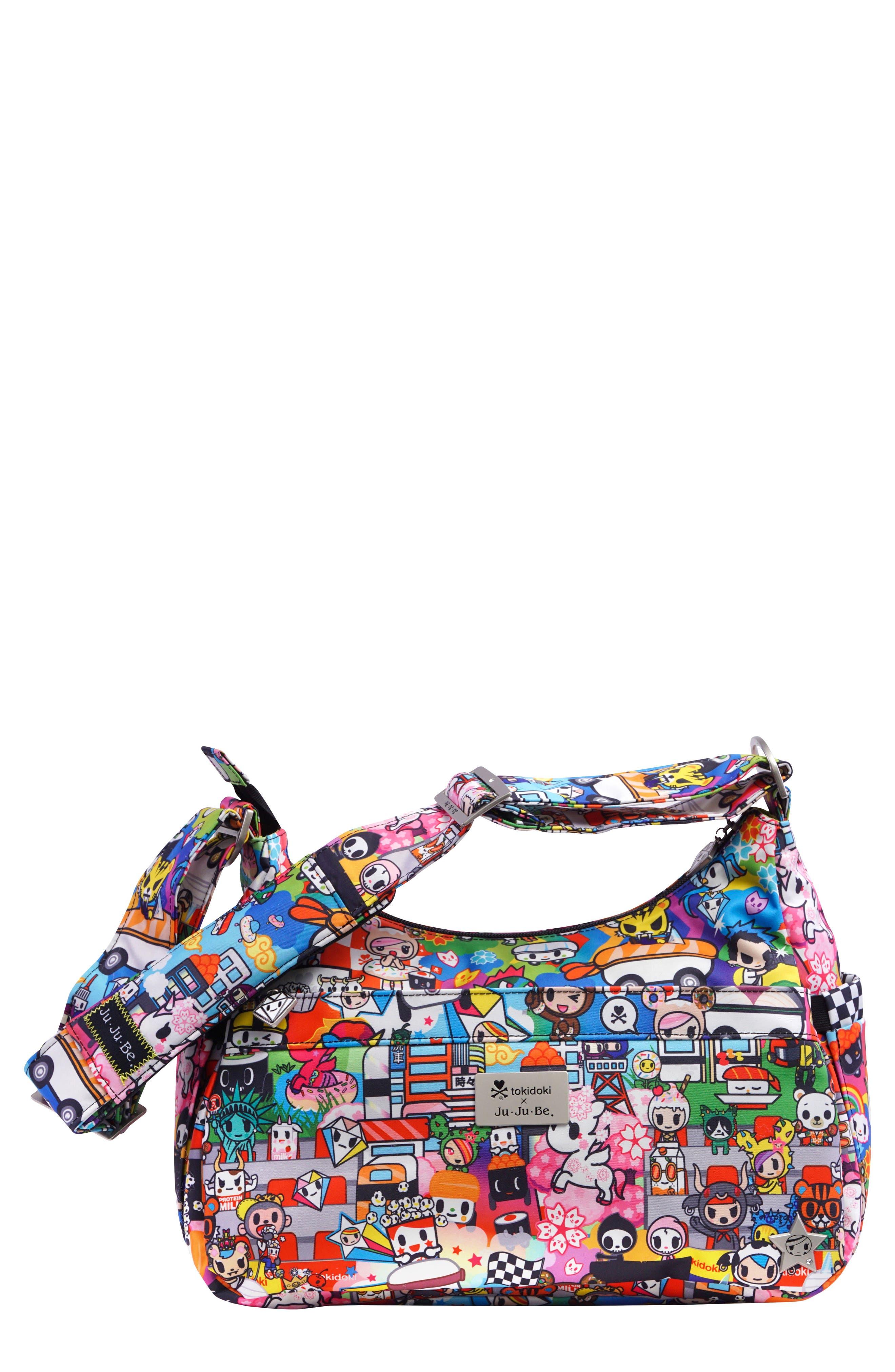 tokidoki x Ju-Ju-Be 'HoboBe' Diaper Bag,                         Main,                         color, Sushi Cars