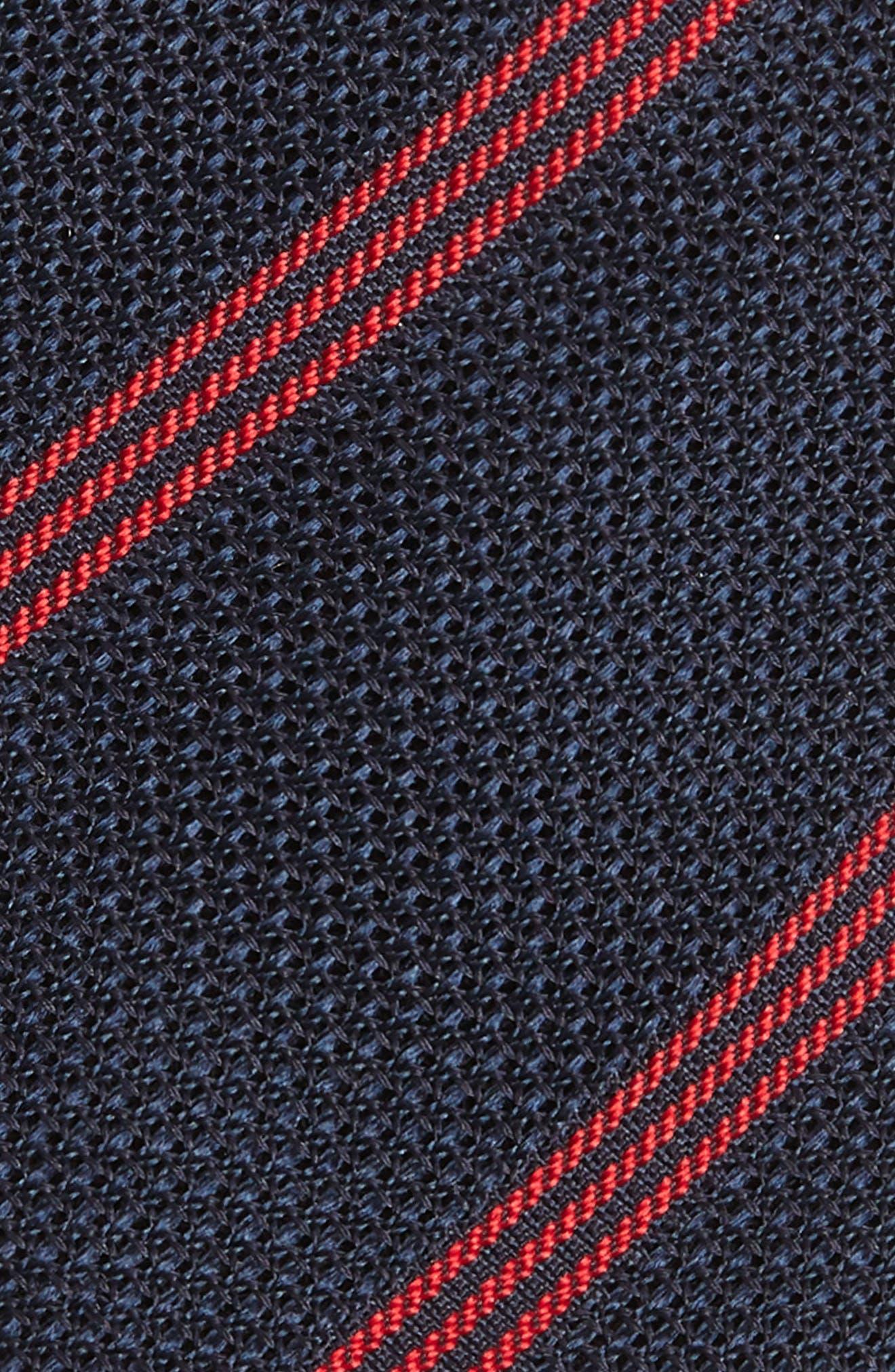 Stripe Wool Skinny Tie,                             Alternate thumbnail 2, color,                             Navy/ Red