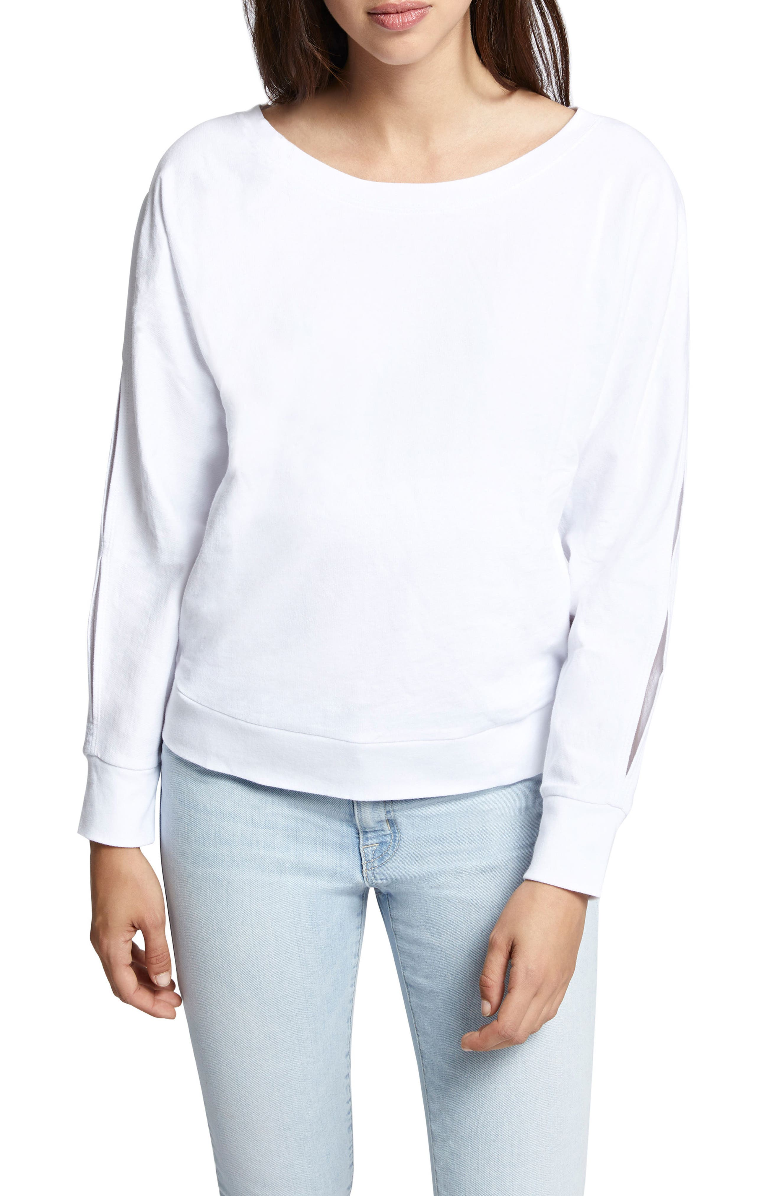 Chill Out Sweatshirt,                             Main thumbnail 1, color,                             White