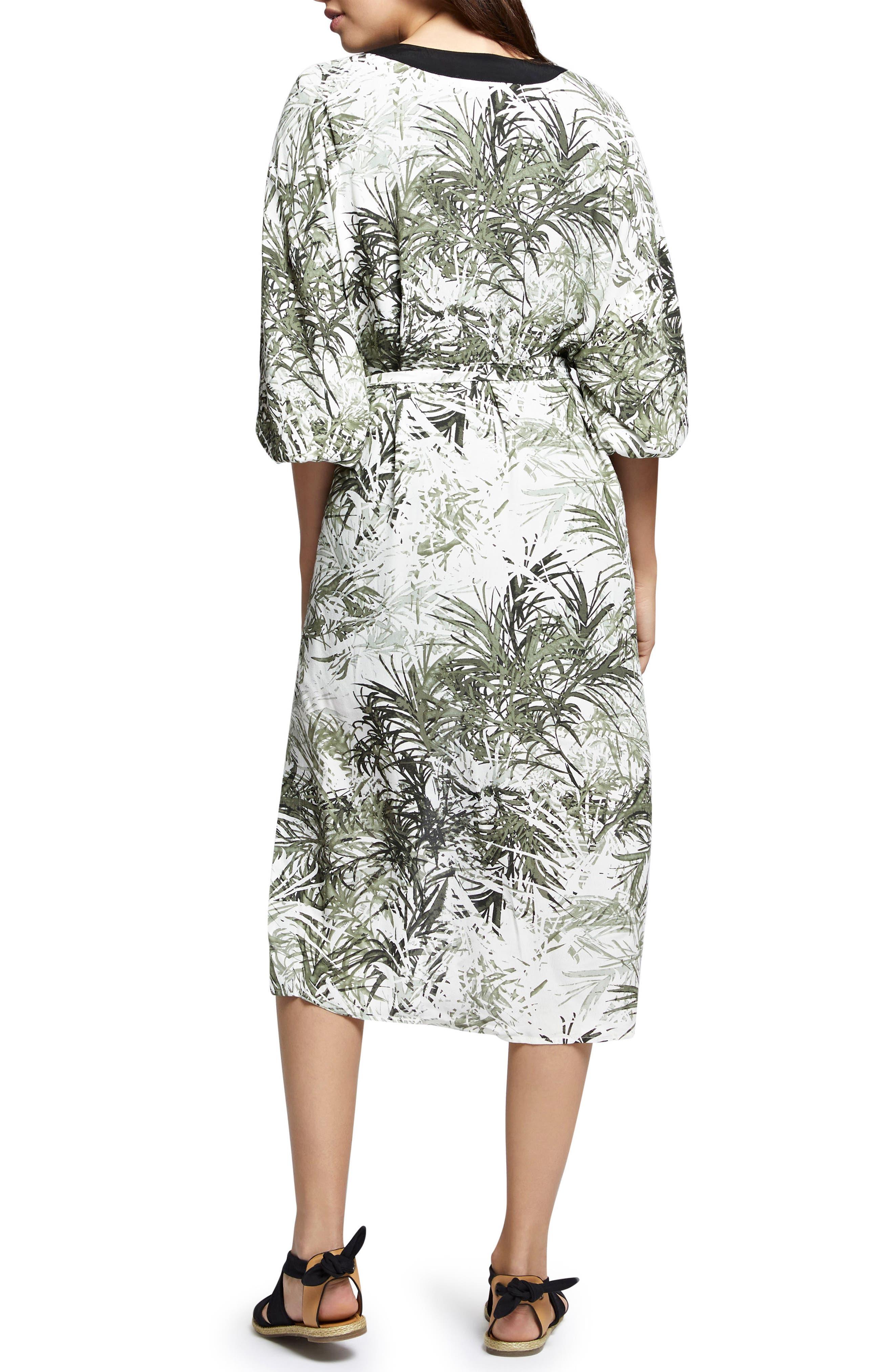 Calico Print Kimono,                             Alternate thumbnail 2, color,                             Tiki Palm