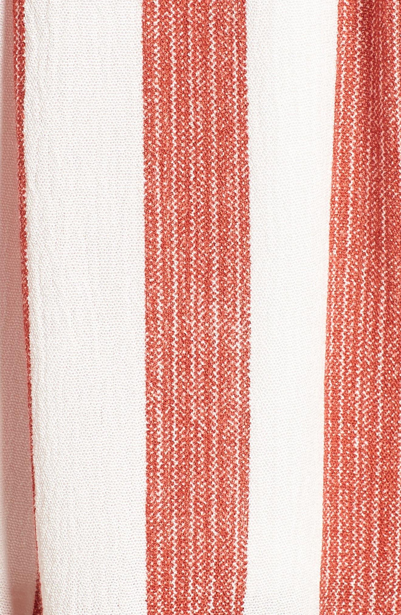 Stripe Shorts,                             Alternate thumbnail 6, color,                             Red/ Ivory
