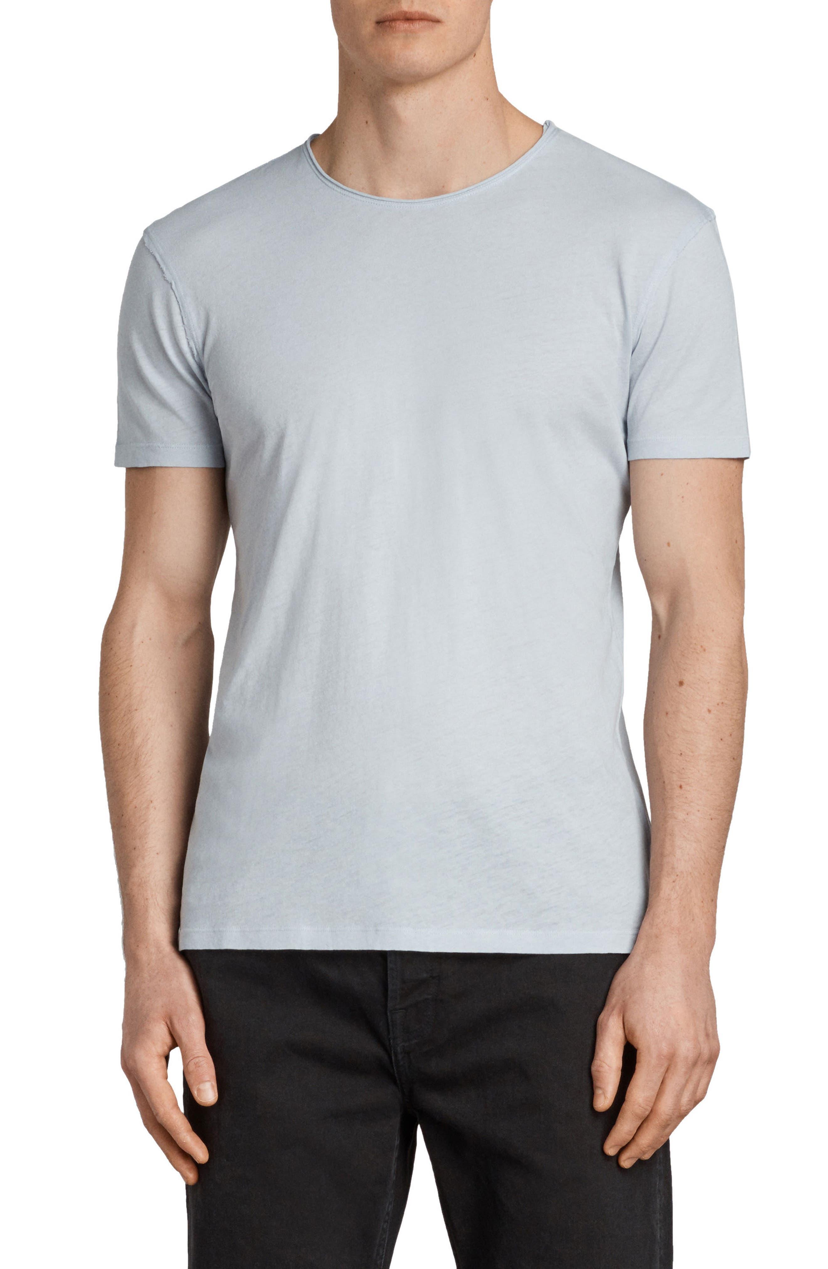Slim Fit Crewneck T-Shirt,                         Main,                         color, Celest Blue