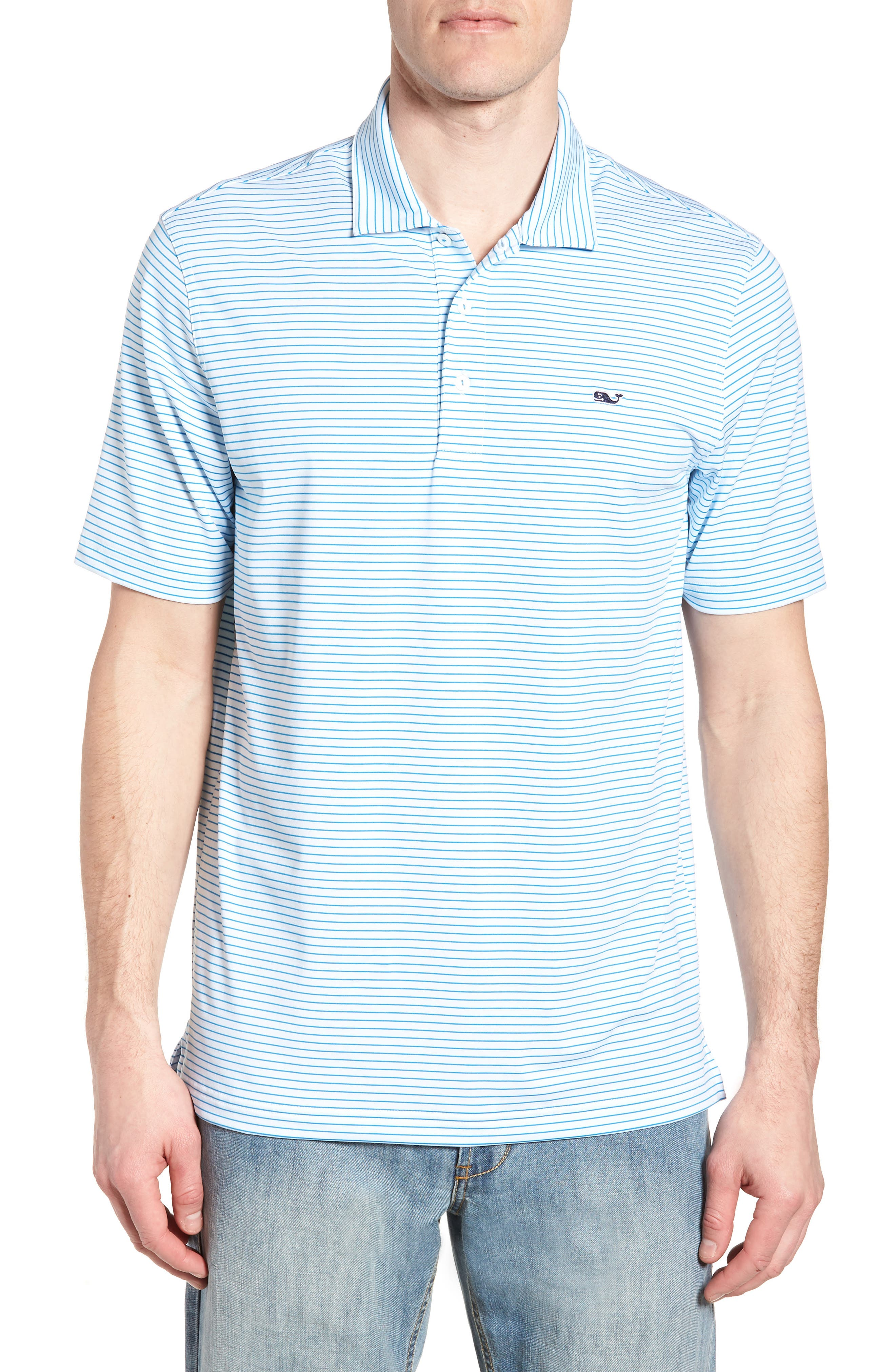 vineyard vines Heathered Wilson Stripe Polo