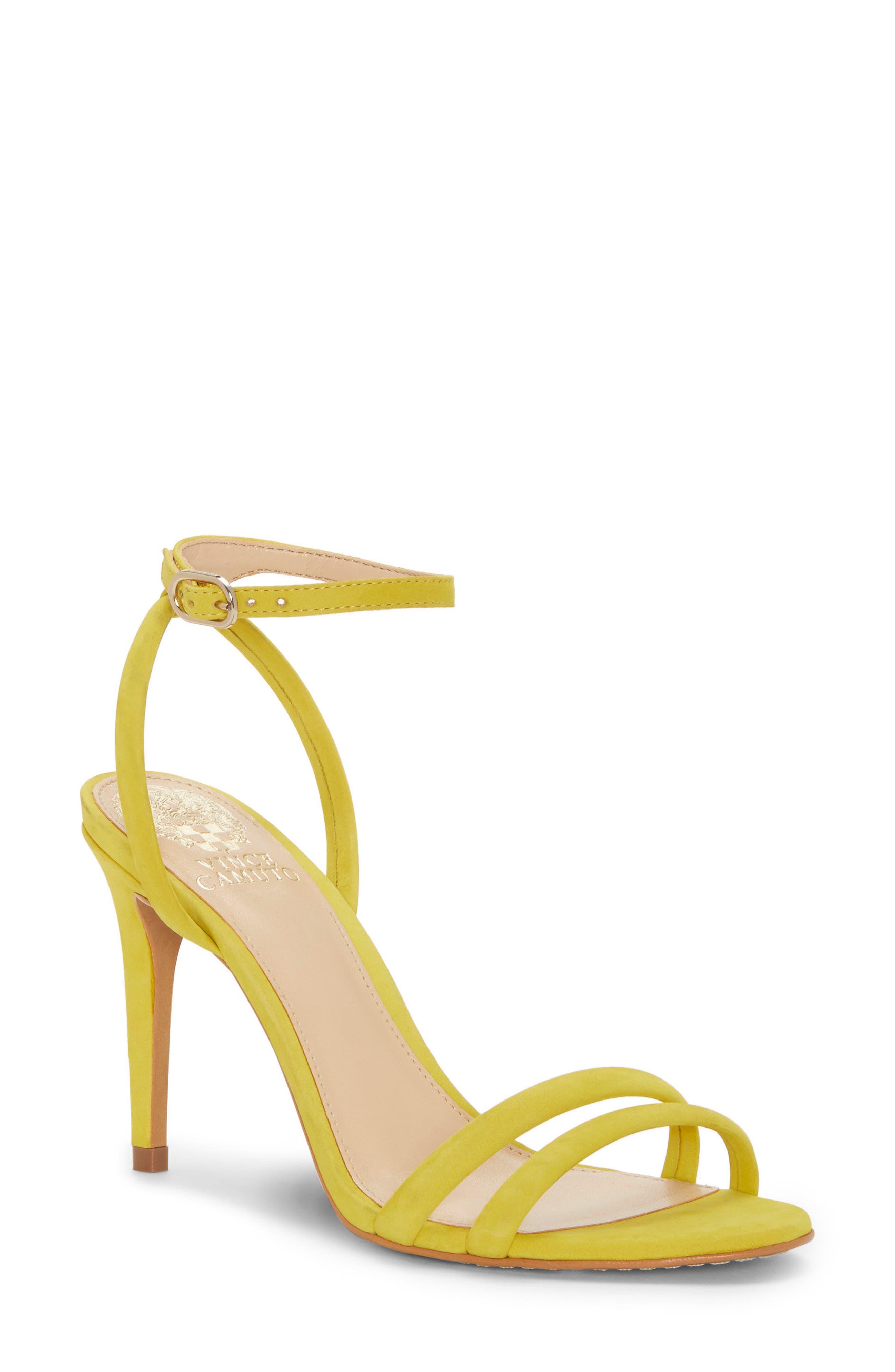 Kareenat Sandal,                             Main thumbnail 1, color,                             Yellow Nubuck Leather