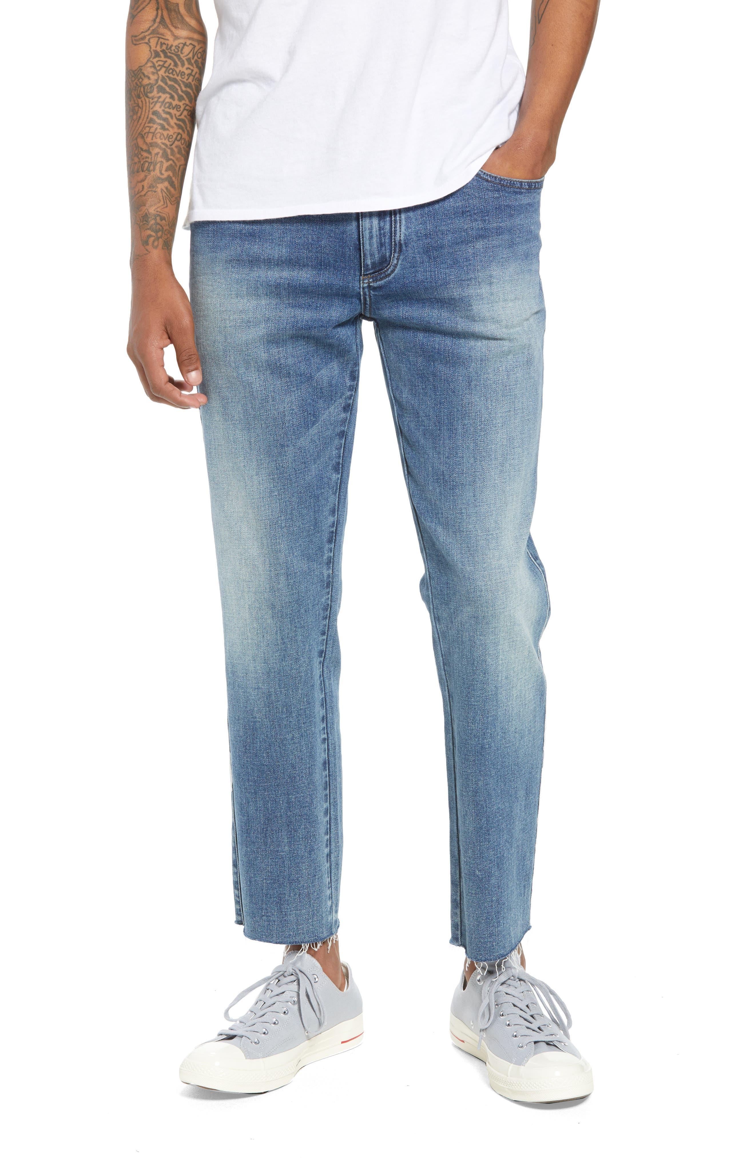 BLANKNYC Crop Slim Fit Jeans (Ruthless Rest)
