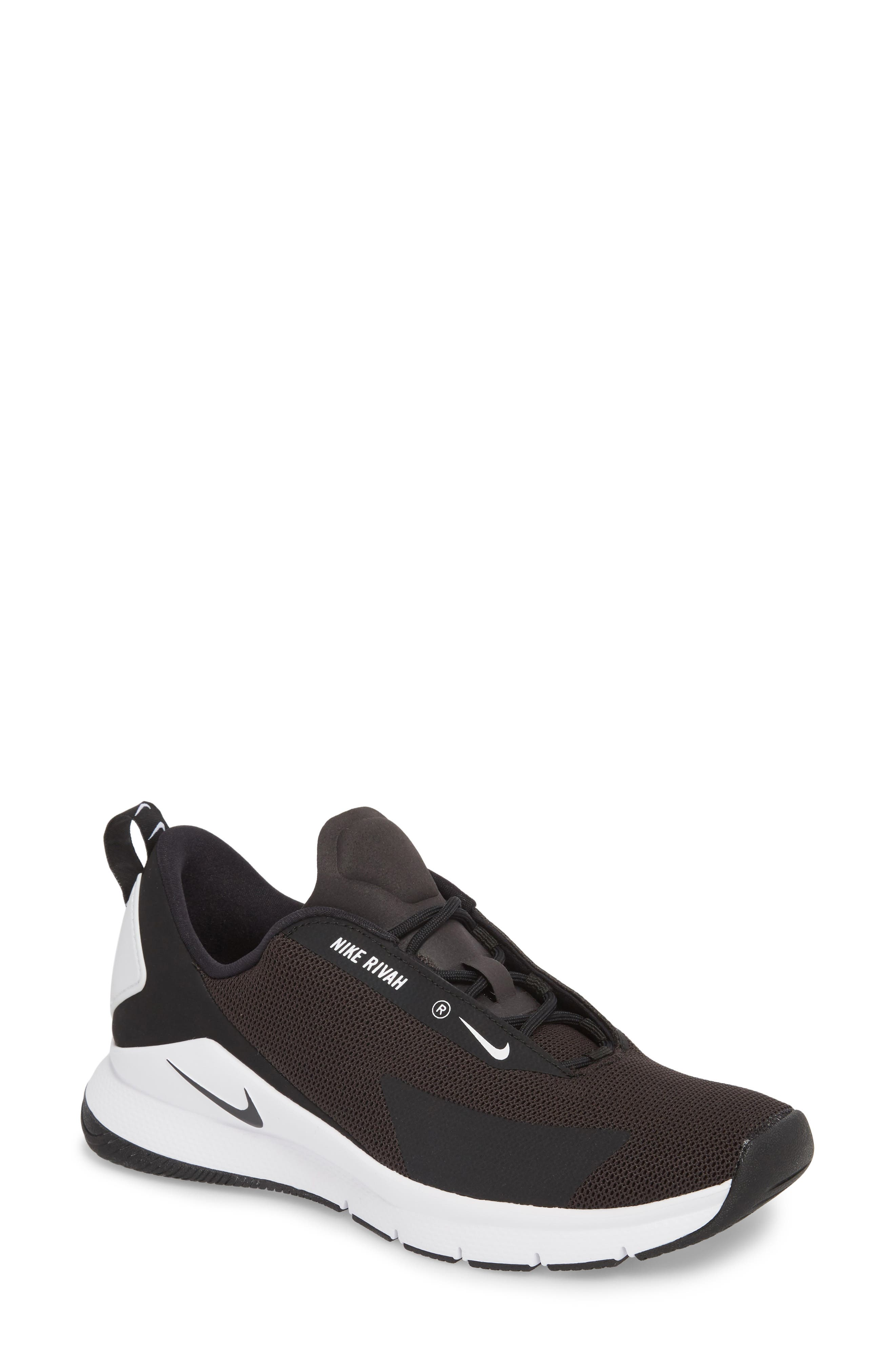 Rivah Sneaker,                         Main,                         color, Black/ Black/ White