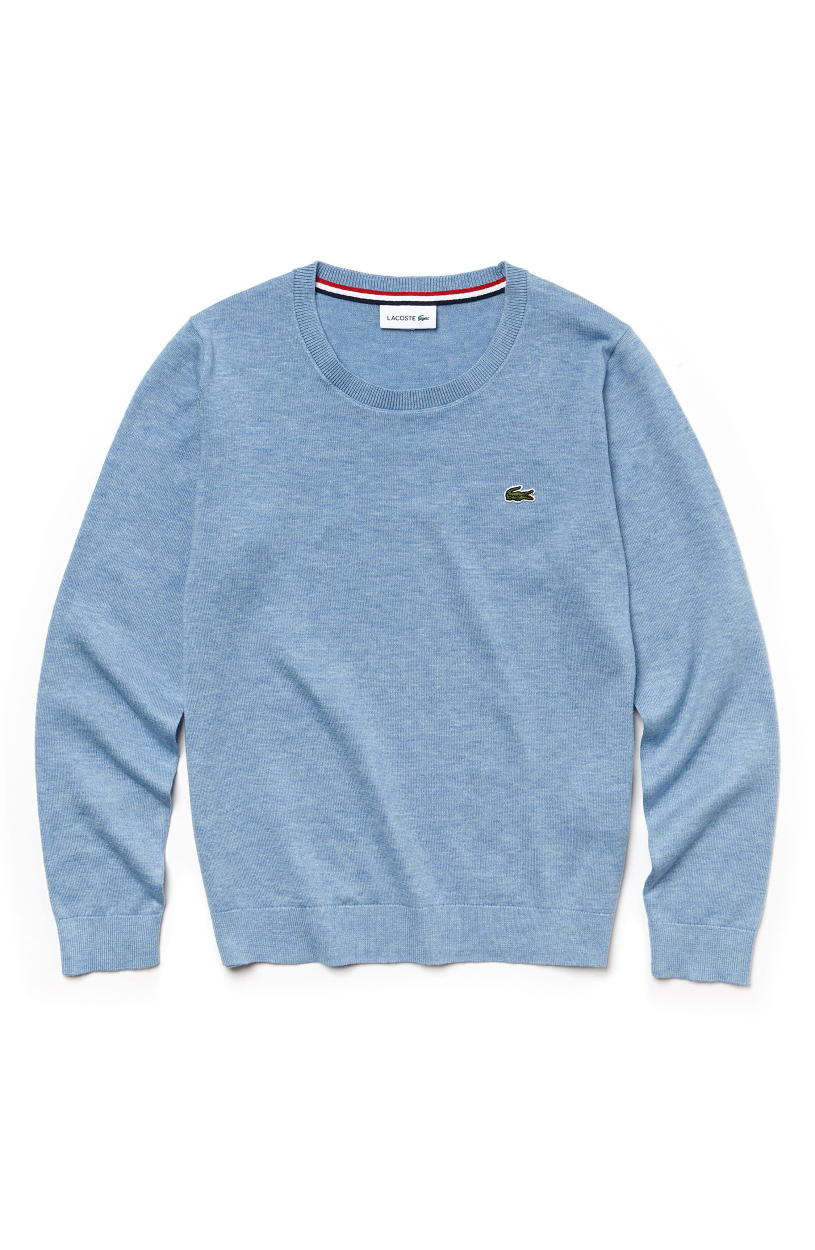 Classic Jersey Crewneck Sweater,                             Main thumbnail 1, color,                             Dragonfly Blue