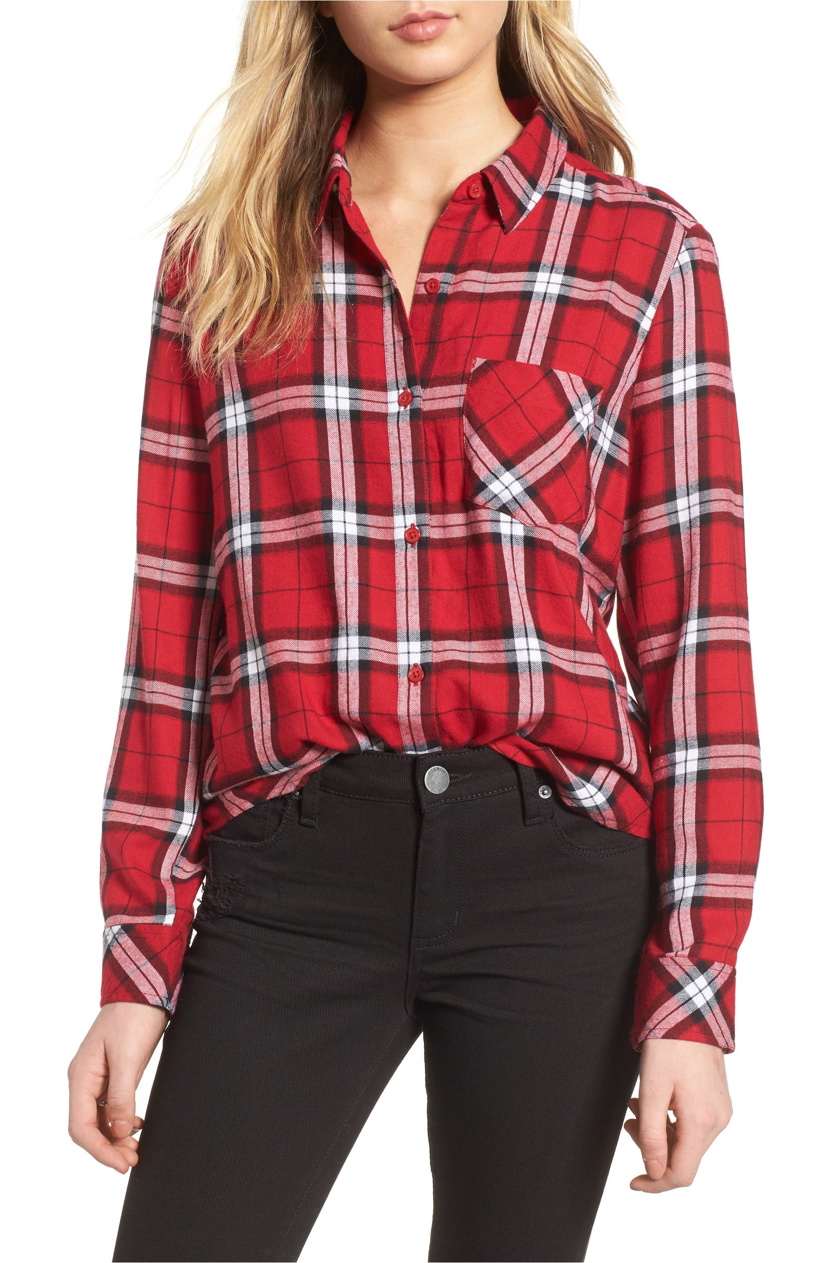 Plaid Shirt,                         Main,                         color, Red Jester Kipleigh Plaid