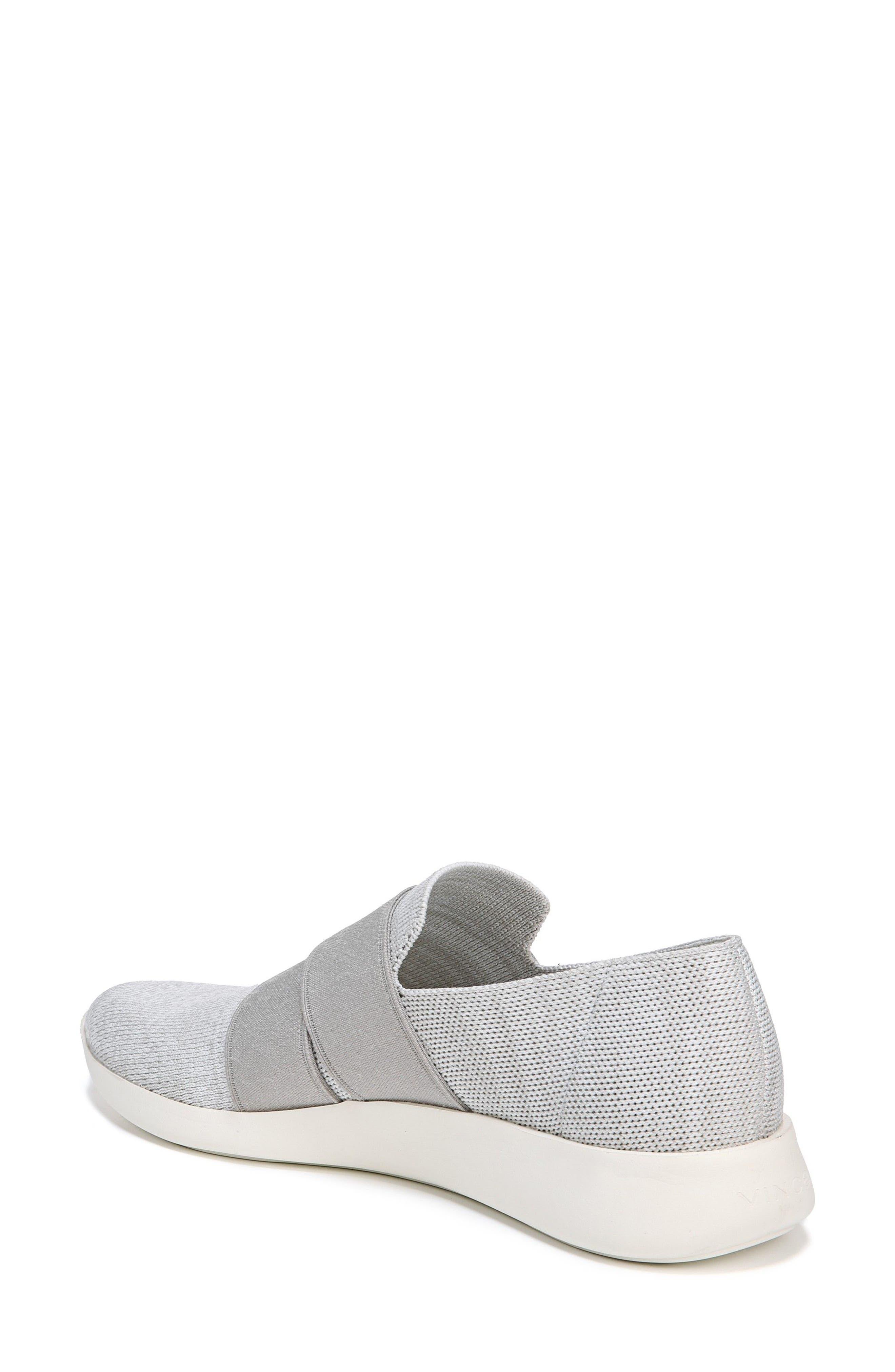 Aston Slip-On Sneaker,                             Alternate thumbnail 2, color,                             White/ Grey Marled Knit