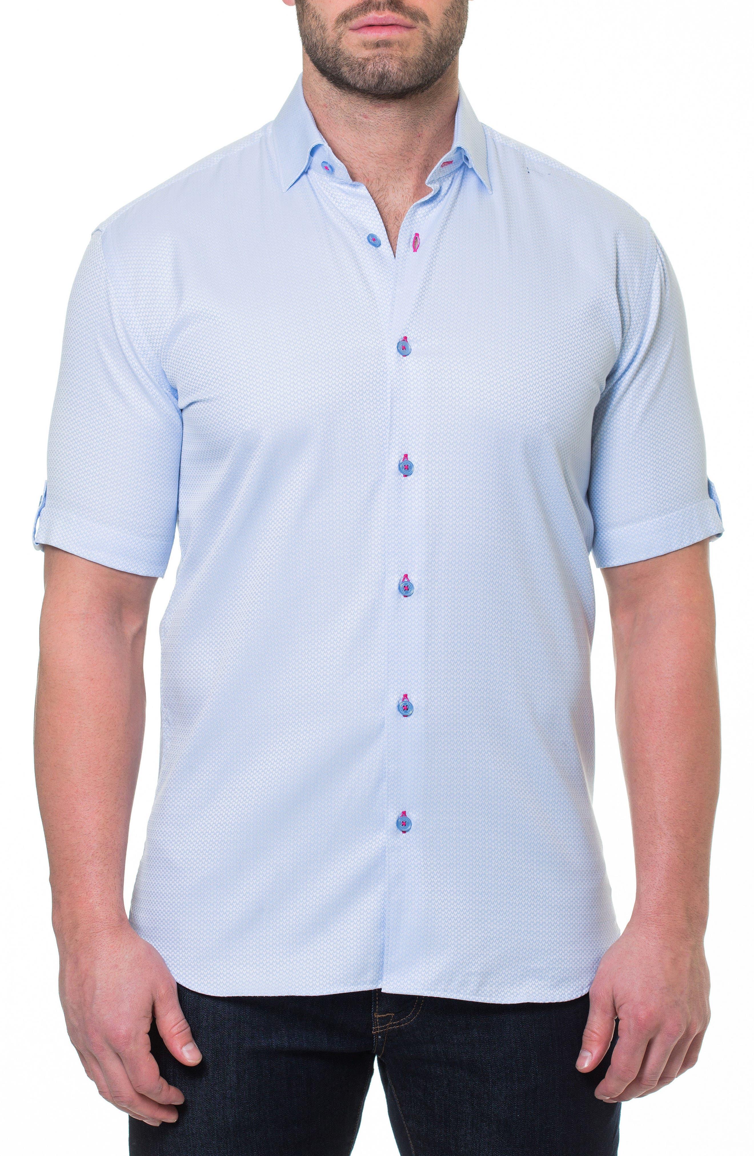 Fresh Heart Blue Slim Fit Sport Shirt,                         Main,                         color, Blue